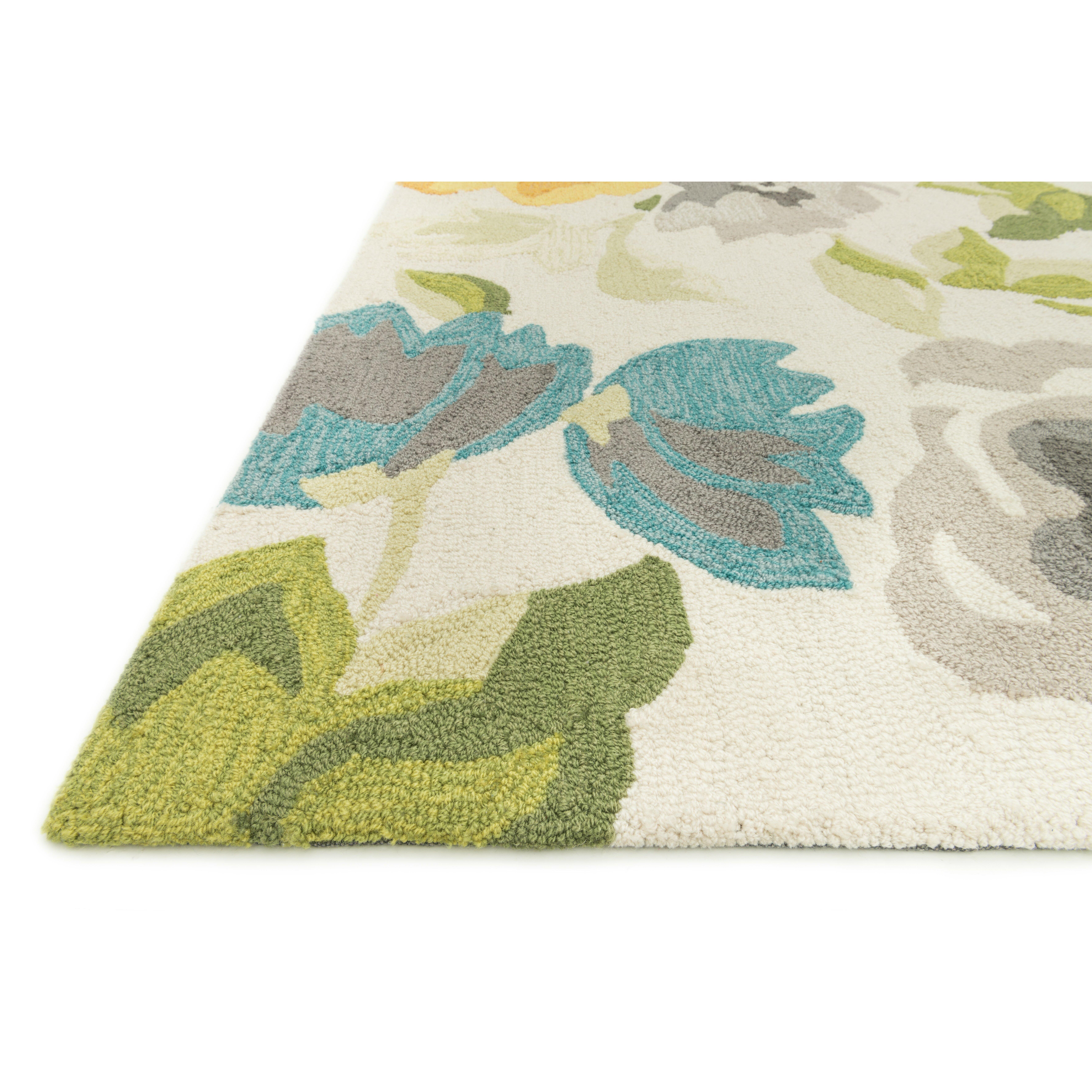 Loloi Rugs Francesca White Floral Area Rug Reviews Wayfair