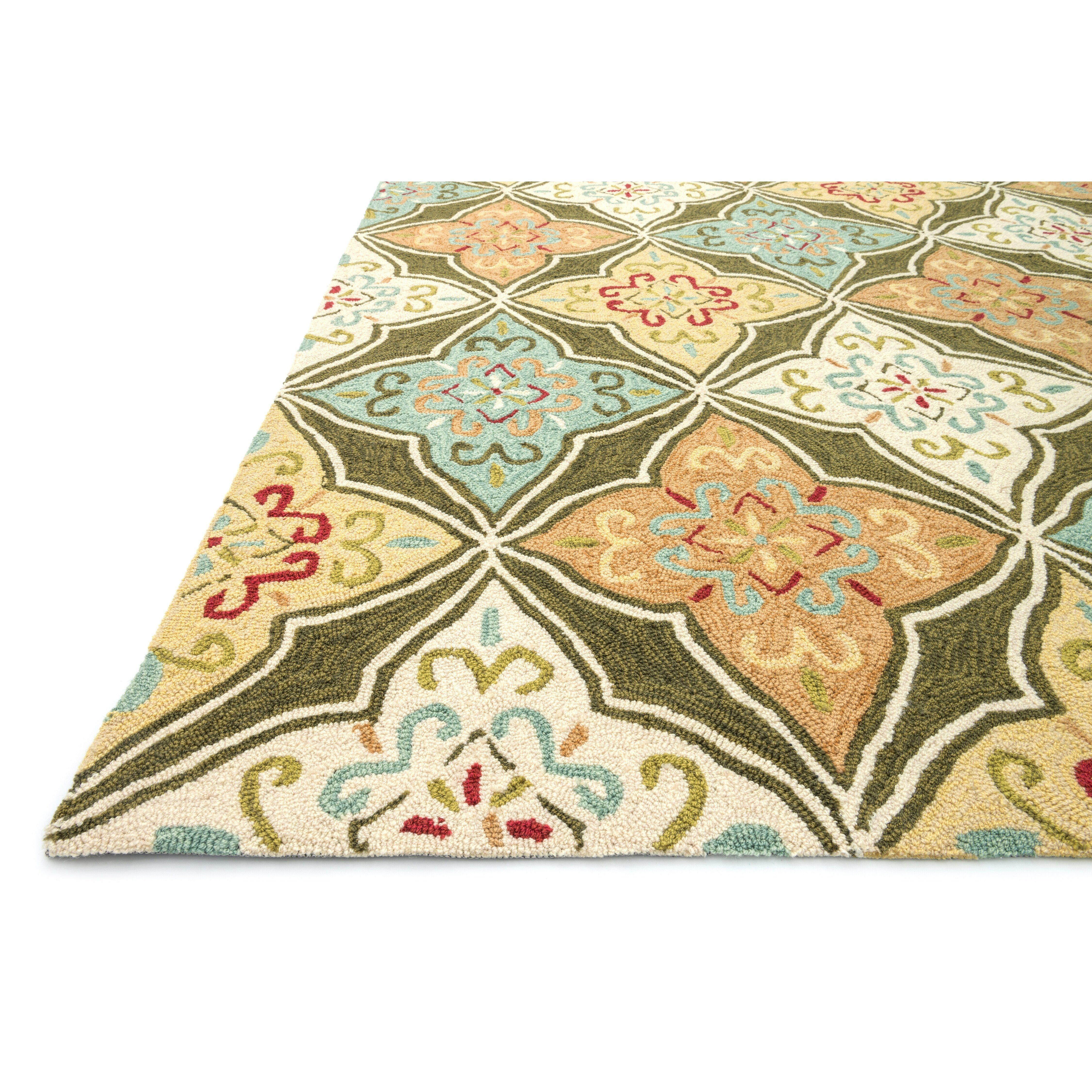 Loloi Rugs Francesca Olive Ivory Floral Area Rug Reviews