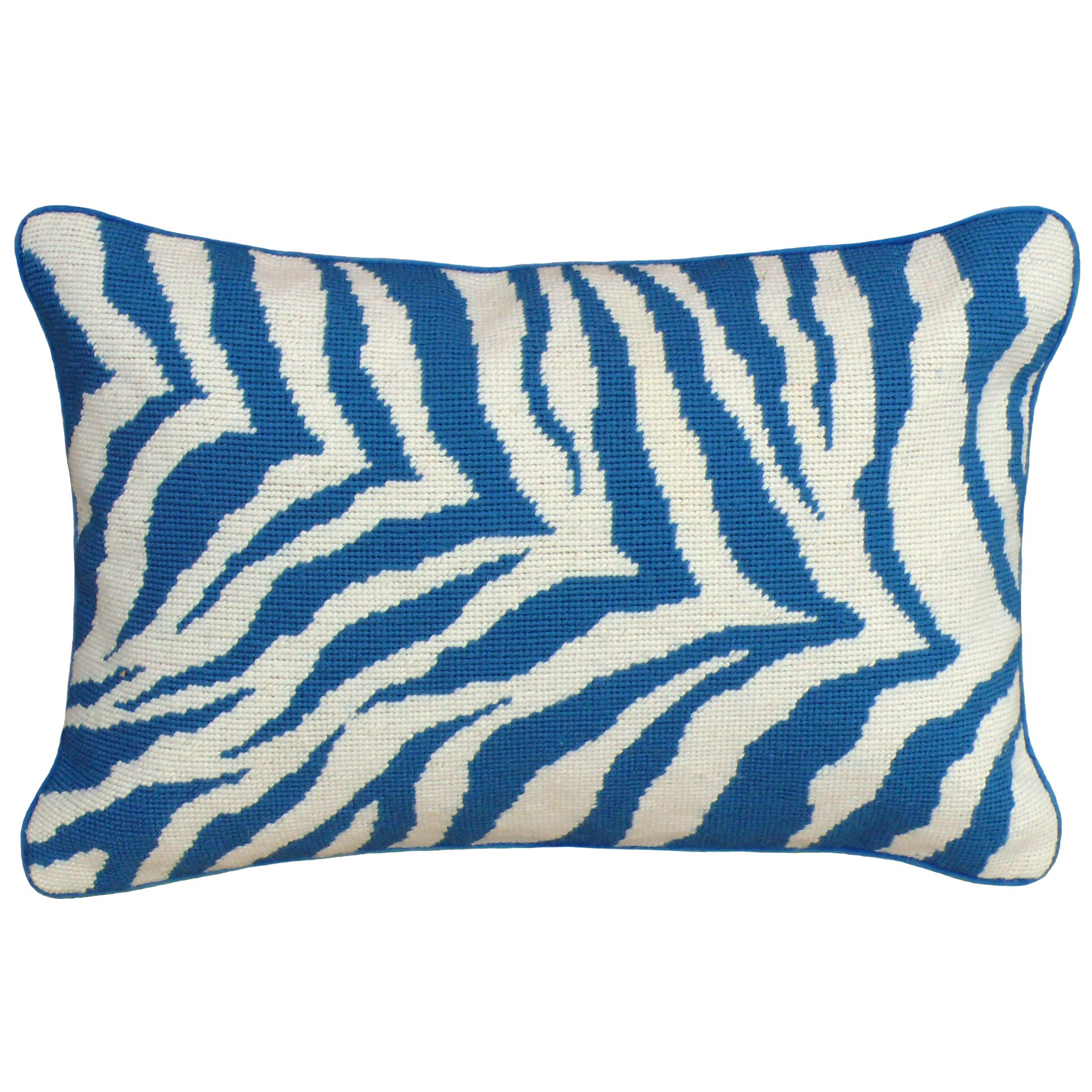 Animal Print Needlepoint Pillows : 123 Creations Zebra Needlepoint Wool Lumbar Pillow Wayfair