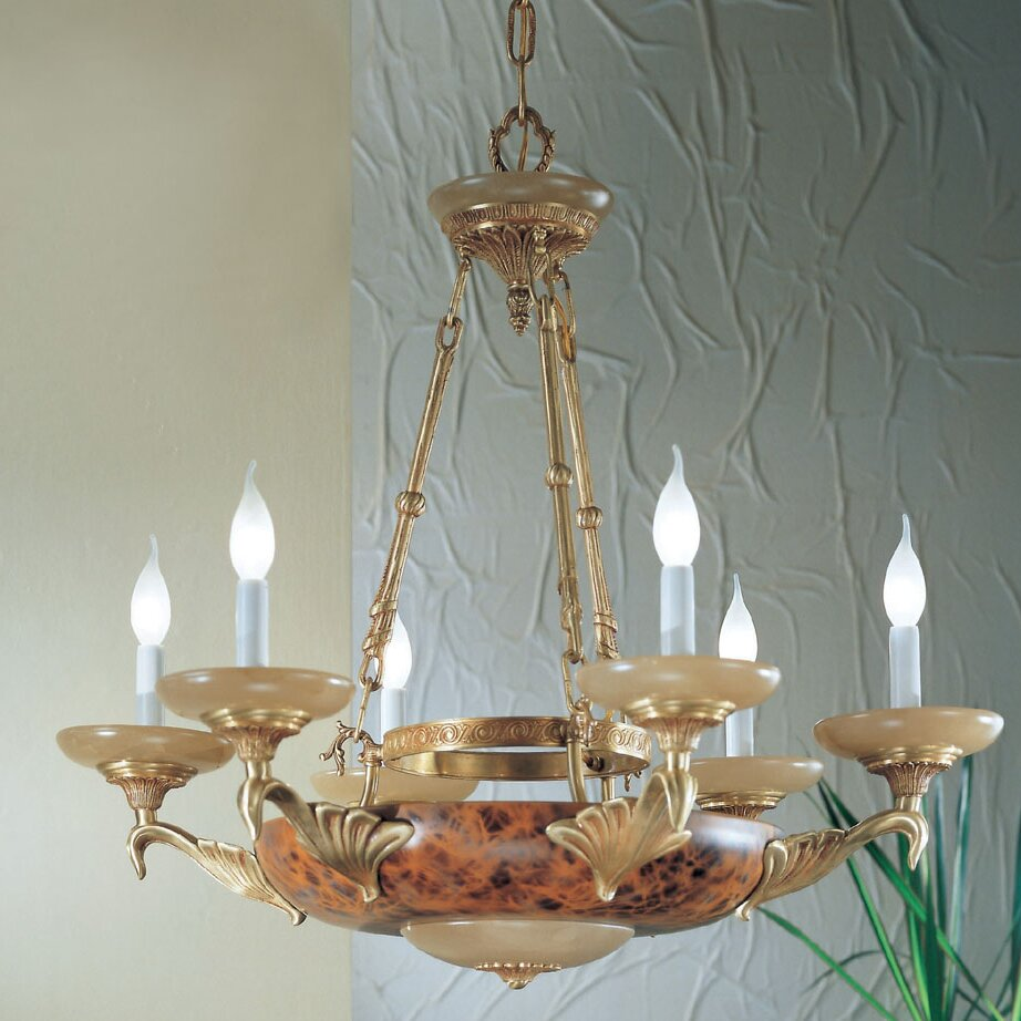 Classic2 Six Light Ring Chandelier: Classic Lighting Queen Anne II 6 Light Candle-Style