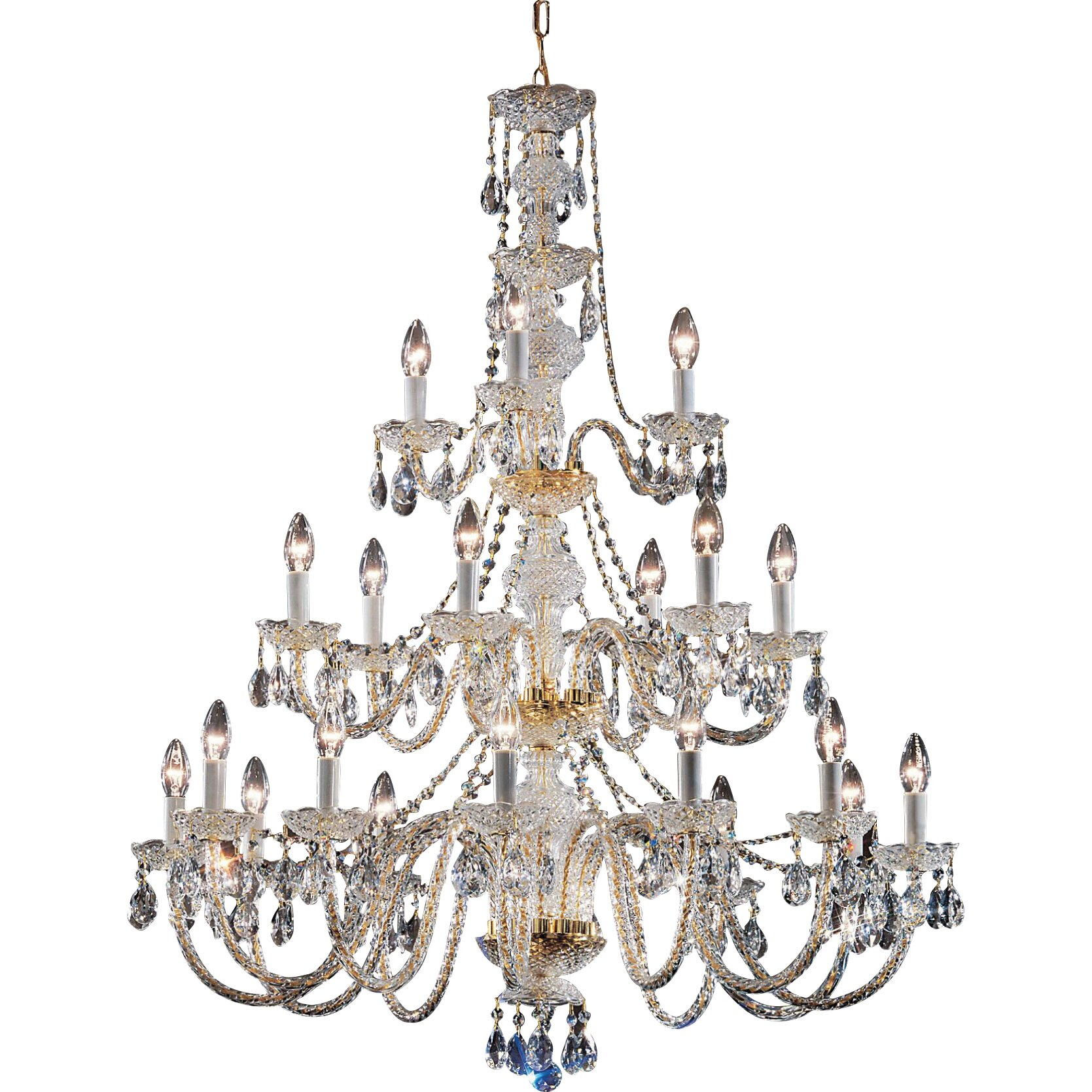 Classic Lighting Monticello 21 Light Crystal Chandelier