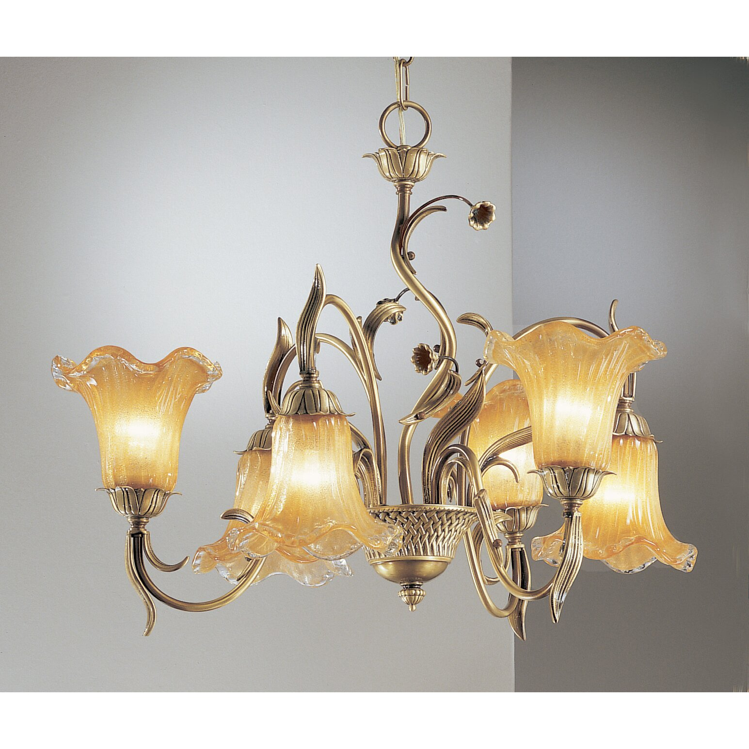 Classic Lighting Venezia Up And Down 6 Light Shaded