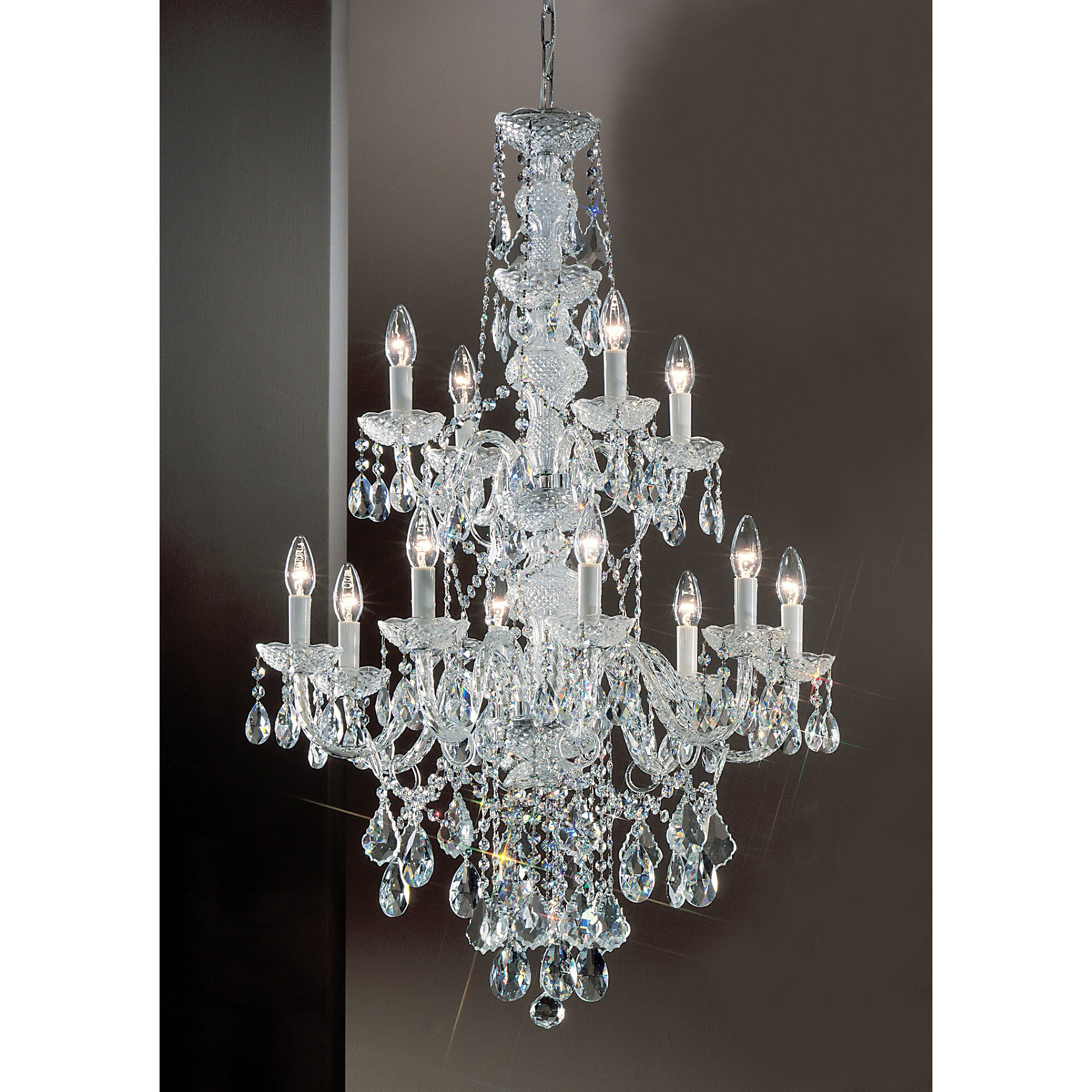 Classic Lighting Monticello 12 Light Crystal Chandelier