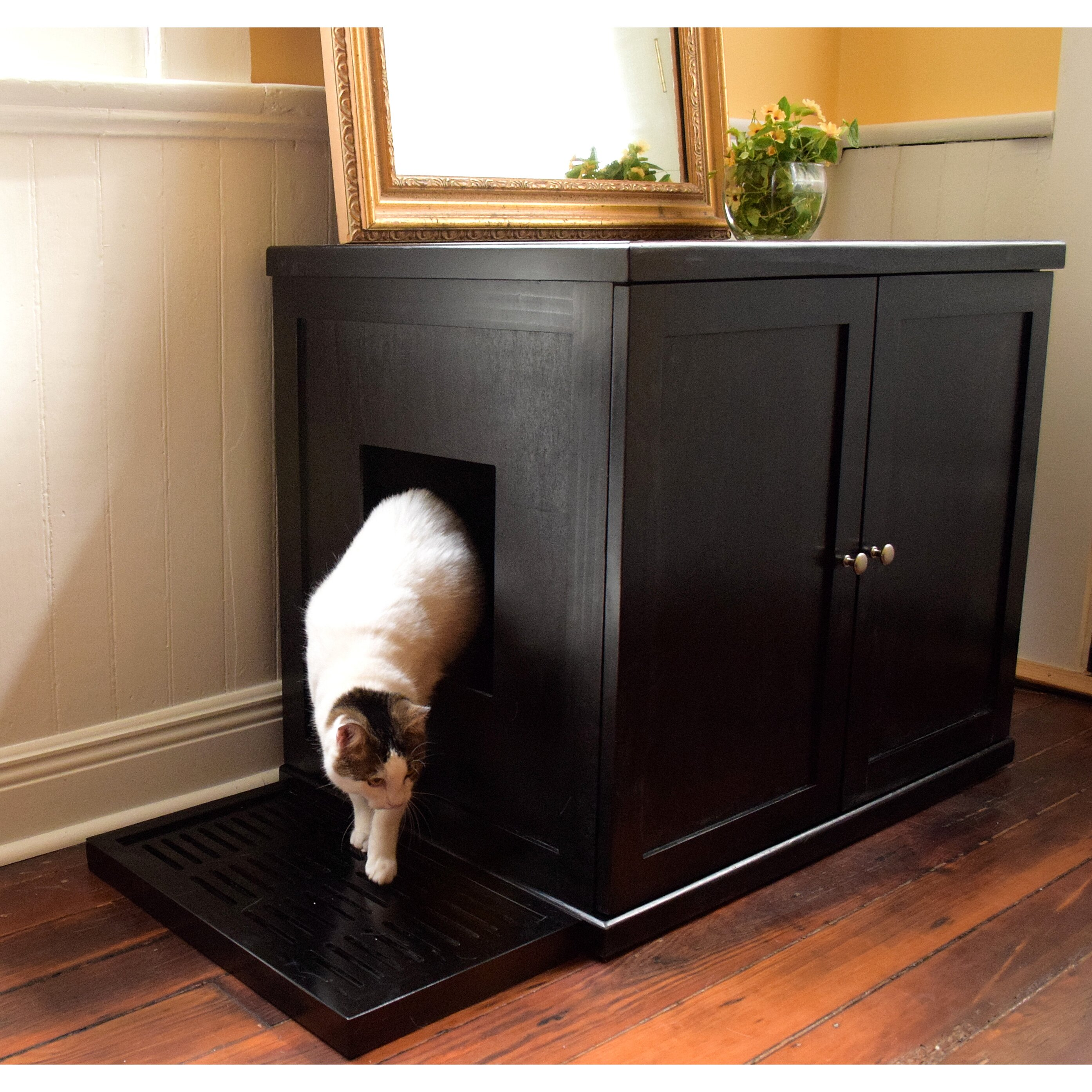 the refined feline the refined litter box reviews wayfair. Black Bedroom Furniture Sets. Home Design Ideas