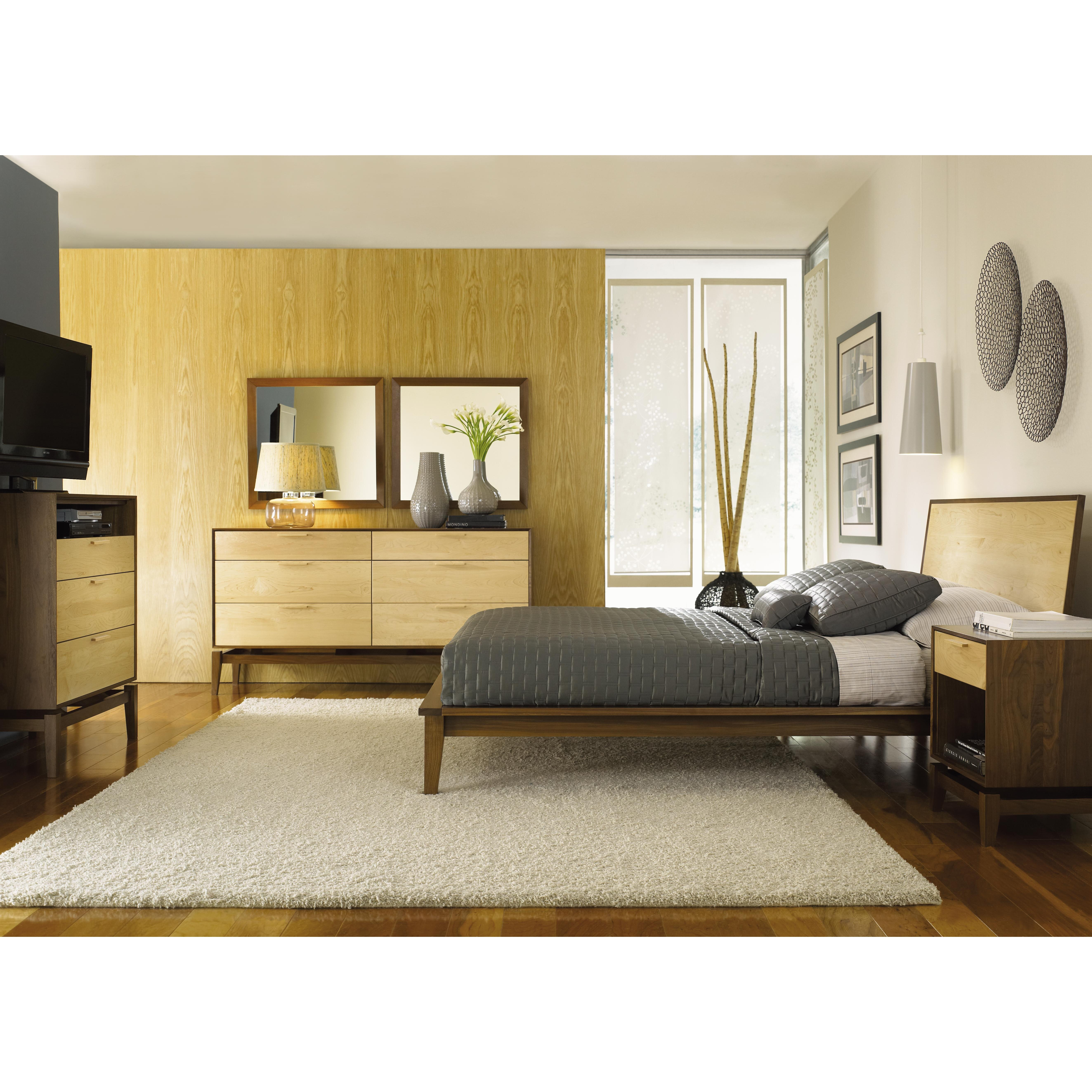Copeland Furniture Soho Platform Customizable Bedroom Set