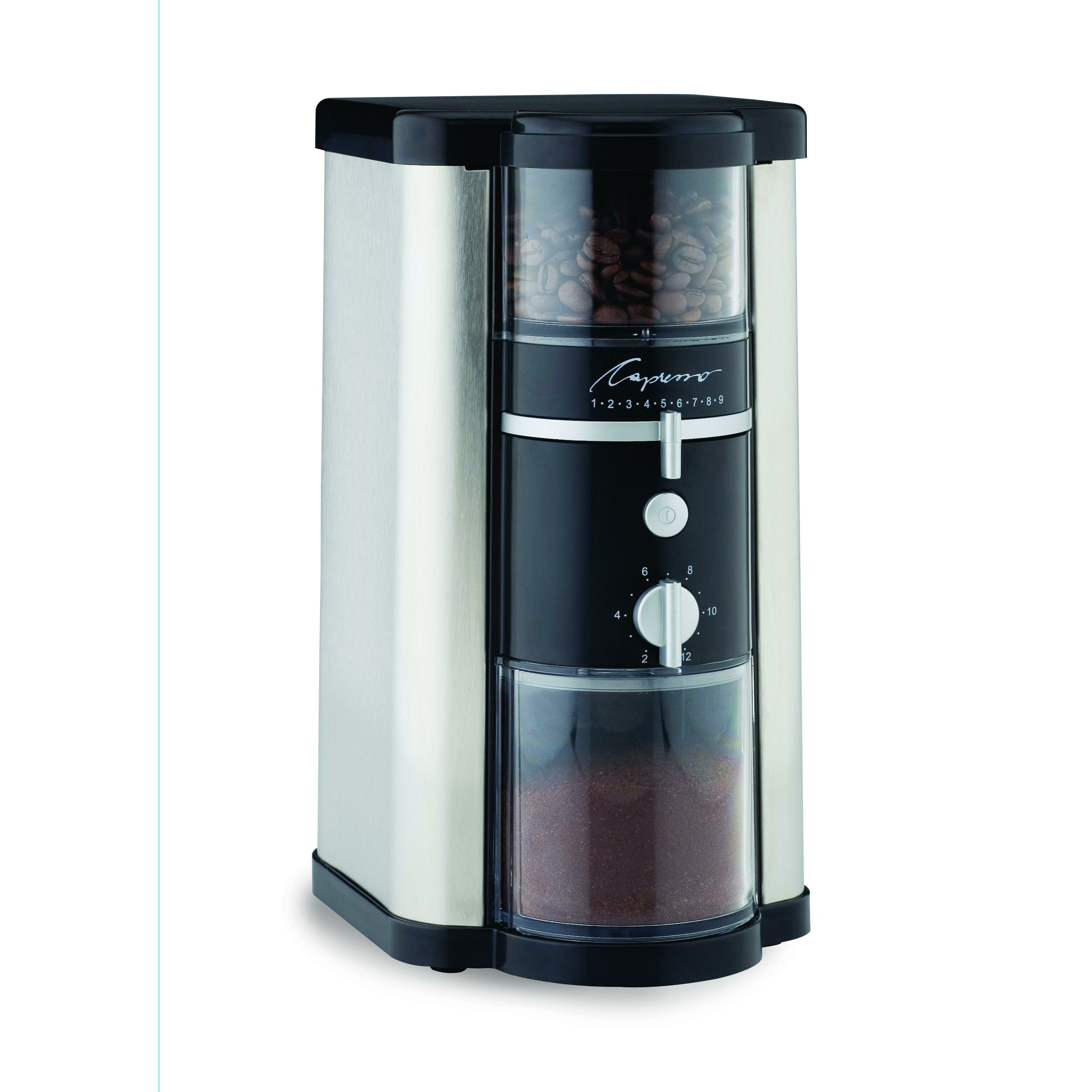 capresso electric burr coffee grinder reviews wayfair. Black Bedroom Furniture Sets. Home Design Ideas