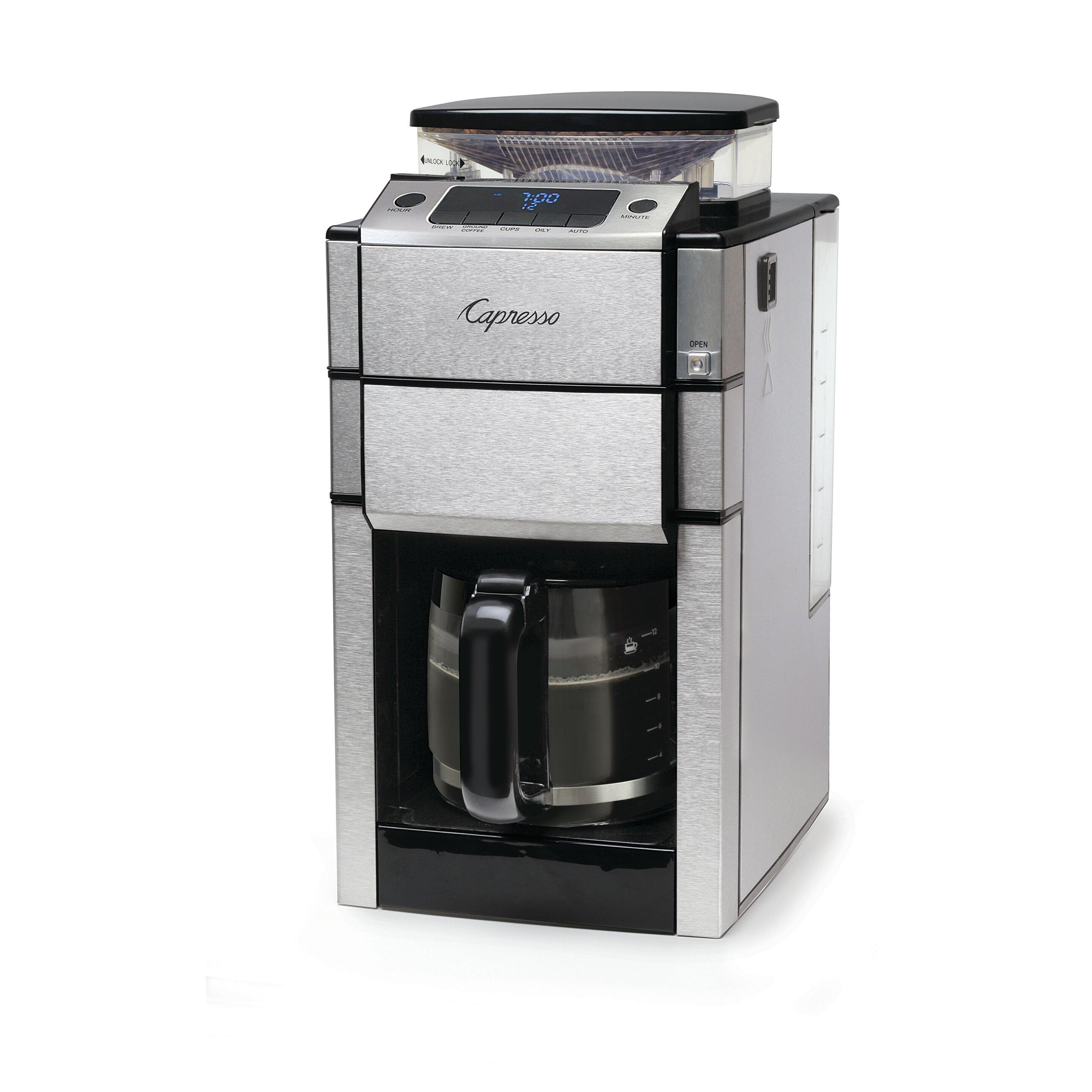 Pro Coffee Maker ~ Capresso coffee team pro plus maker reviews wayfair