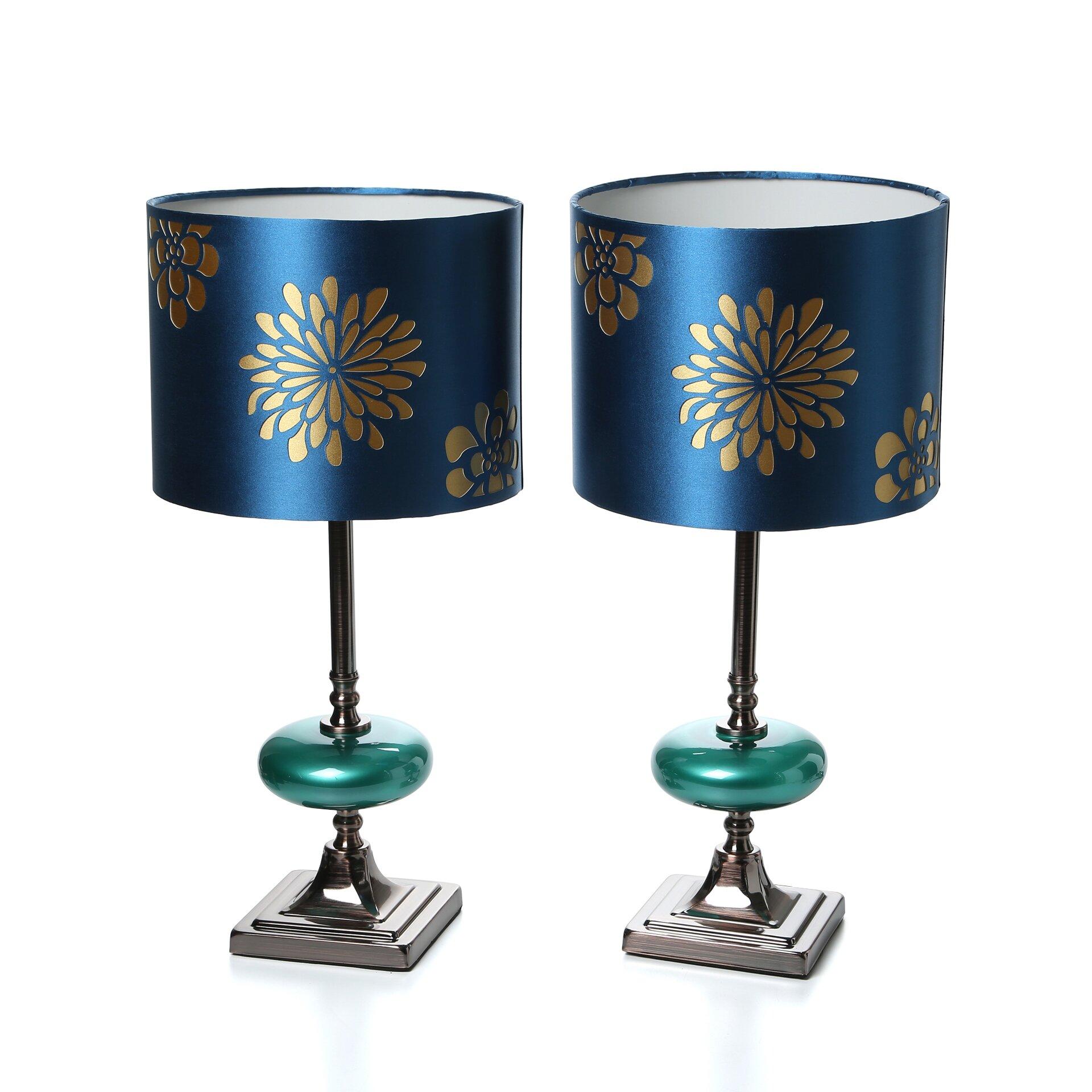 aspire braxton 19 table lamps set of 2 reviews wayfair. Black Bedroom Furniture Sets. Home Design Ideas