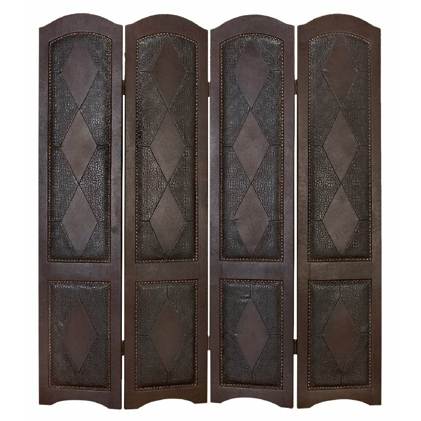 Darby home co 71 x 64 4 panel room divider reviews for Four panel room divider screen