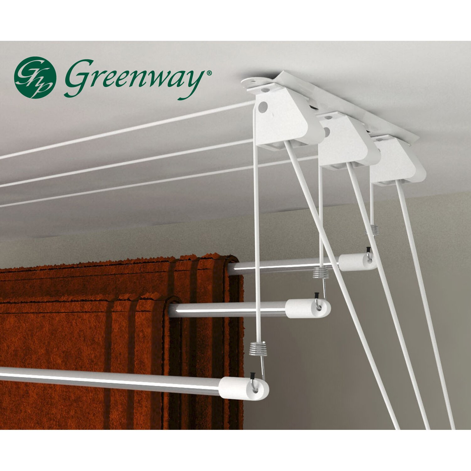 greenway greenway laundry lift retractable drying rack. Black Bedroom Furniture Sets. Home Design Ideas