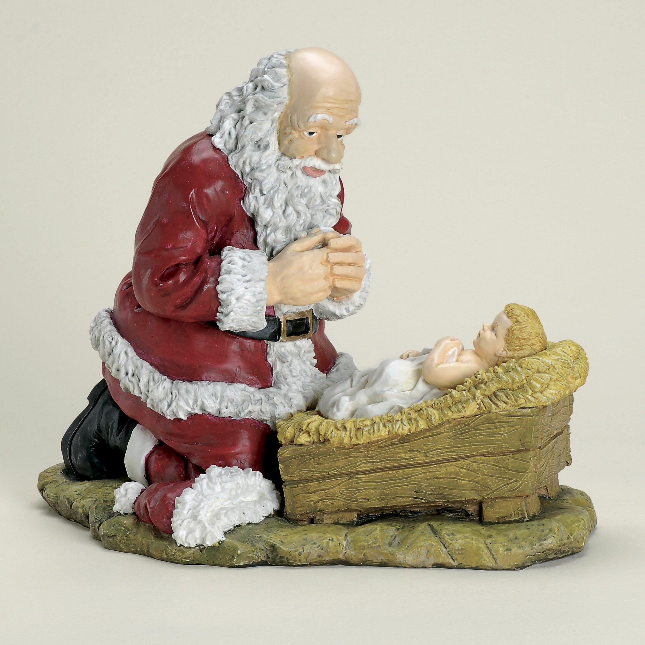 Roman inc kneeling santa christmas figurine reviews