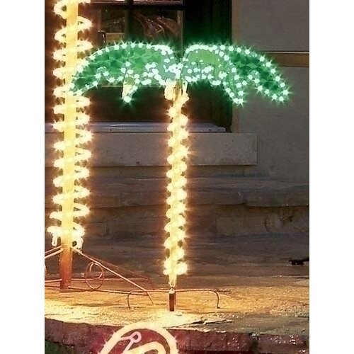 Best Christmas Decorations Fort Lauderdale: Roman, Inc. Tropical Lighted Holographic Rope Light