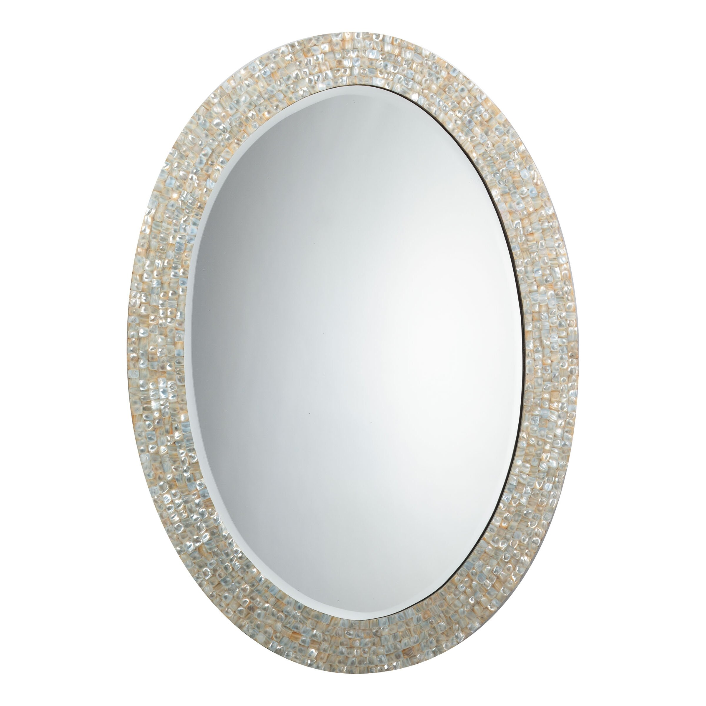 Jamie Young Company Oval Mother Of Pearl Mirror Reviews Wayfair