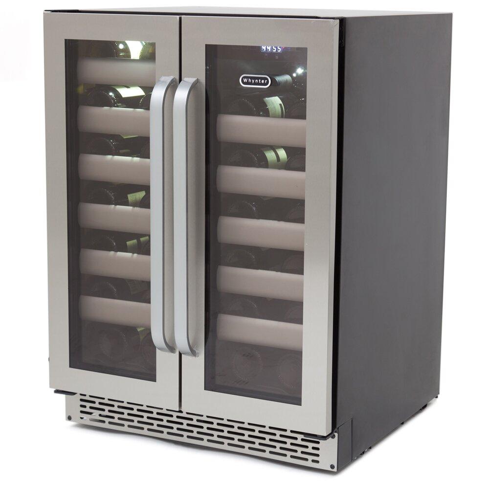 whynter elite 40 bottle dual zone built in wine refrigerator reviews wayfair. Black Bedroom Furniture Sets. Home Design Ideas