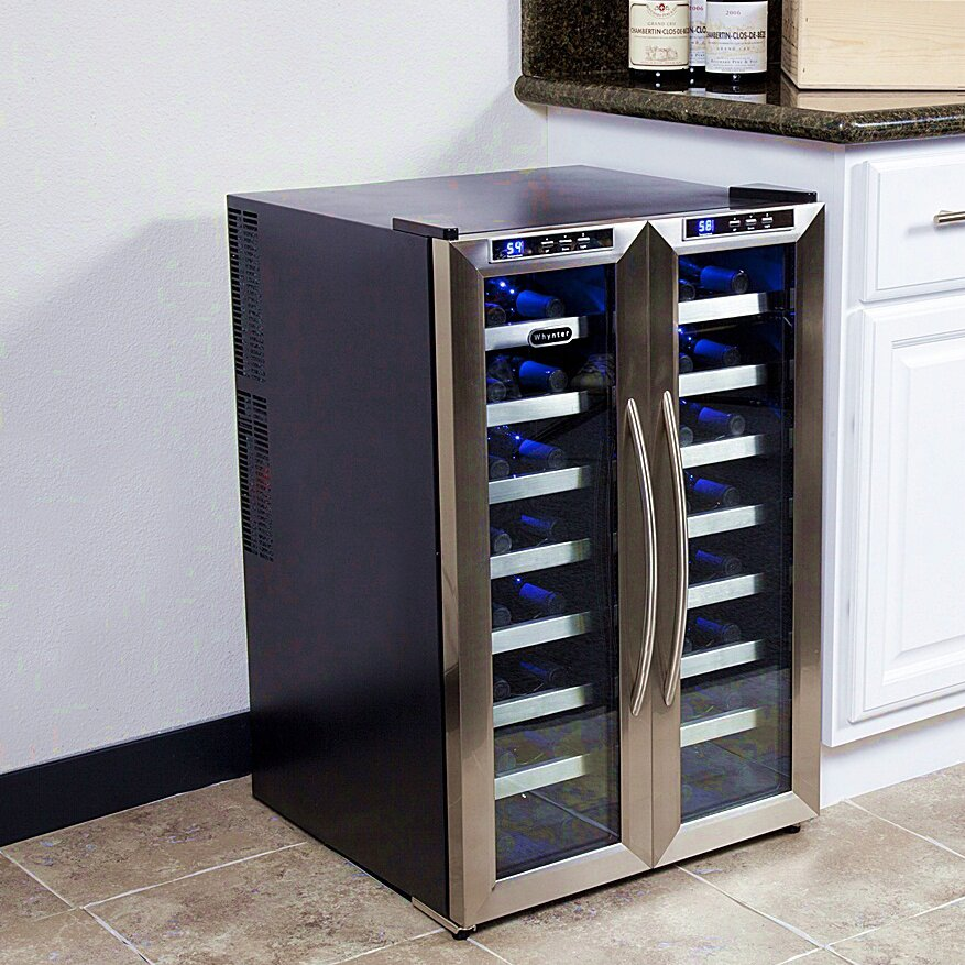 Whynter 32 Bottle Dual Zone Freestanding Wine Refrigerator