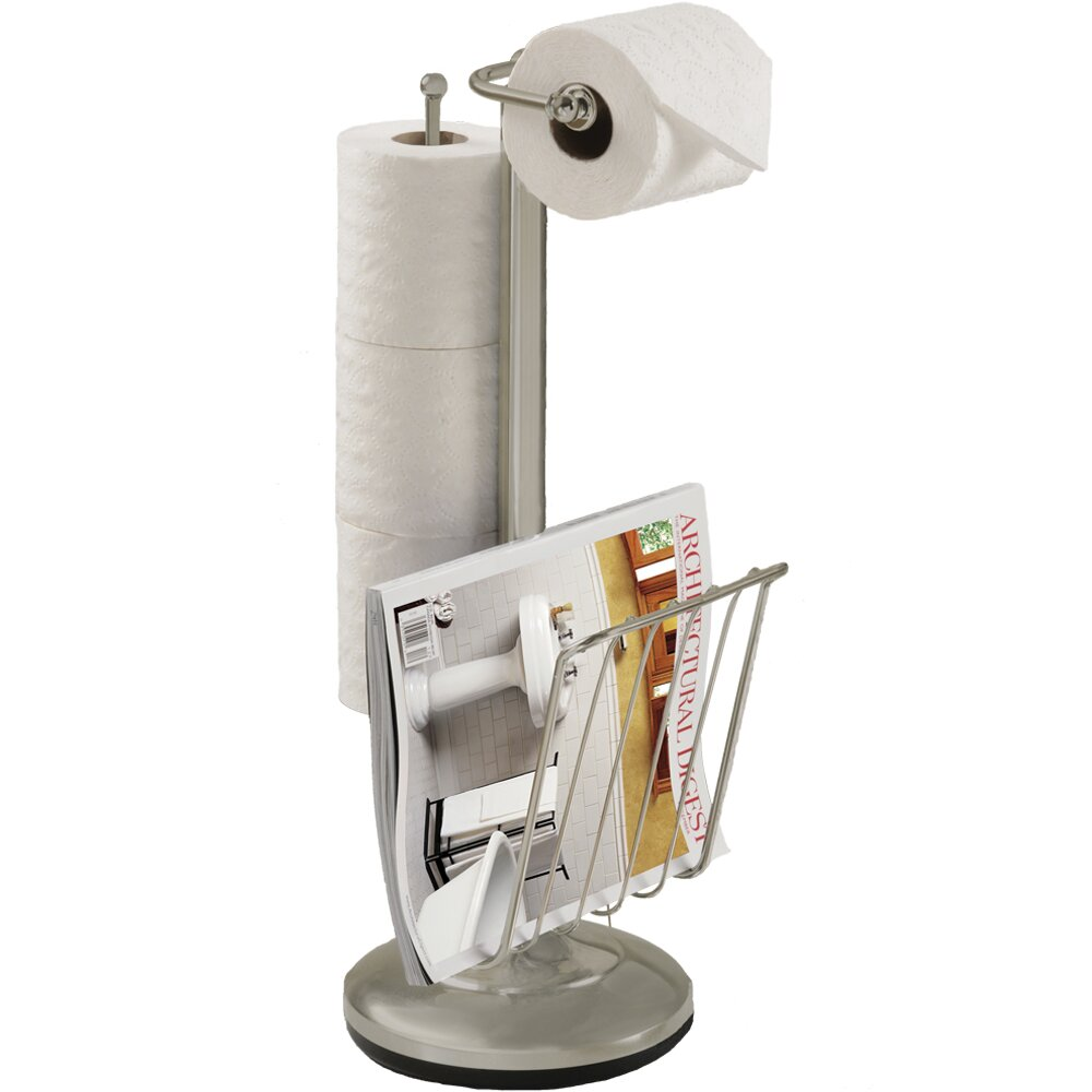 Better Living Products Free Standing Toilet Paper Holder