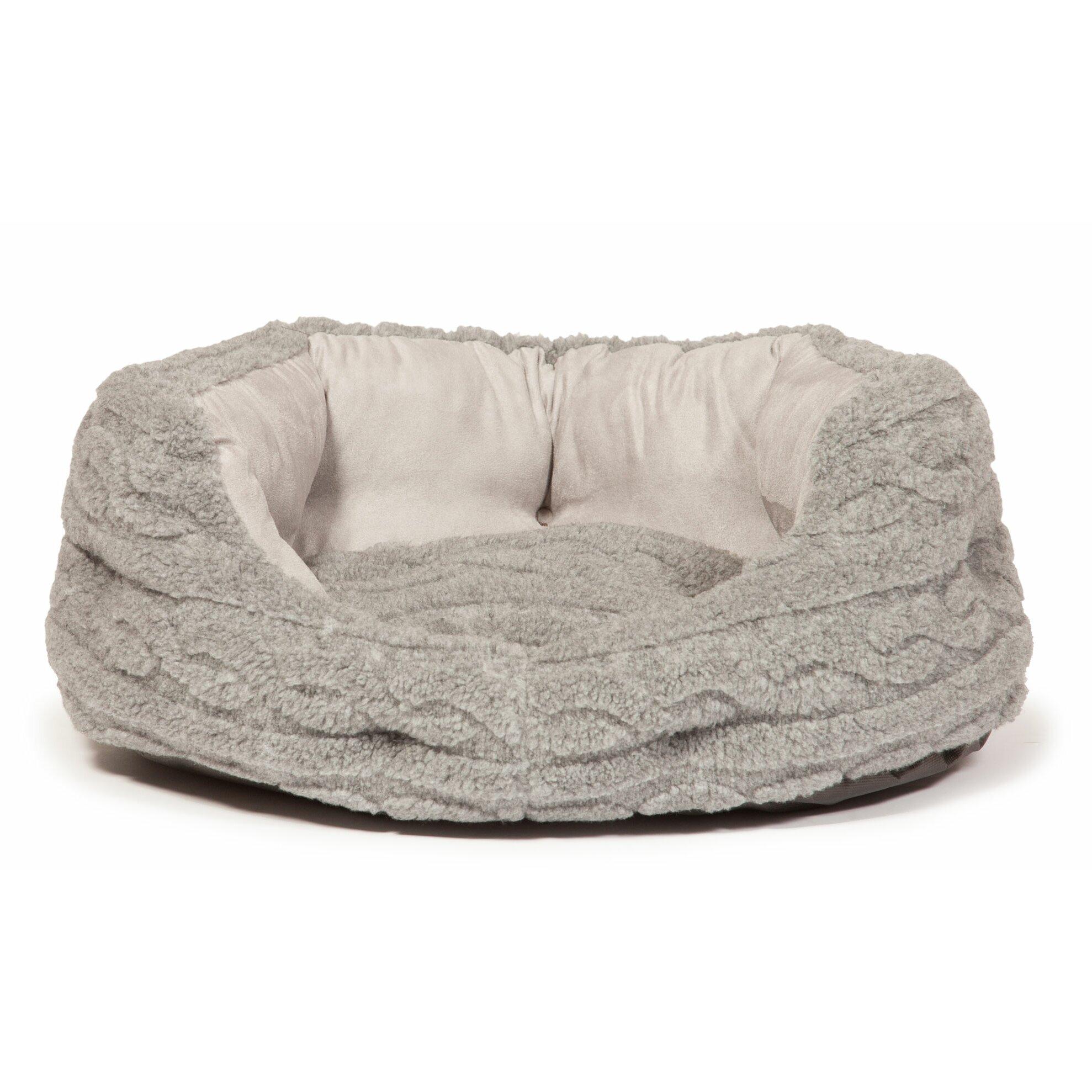 danish design bobble pewter deluxe slumber pet bed in. Black Bedroom Furniture Sets. Home Design Ideas
