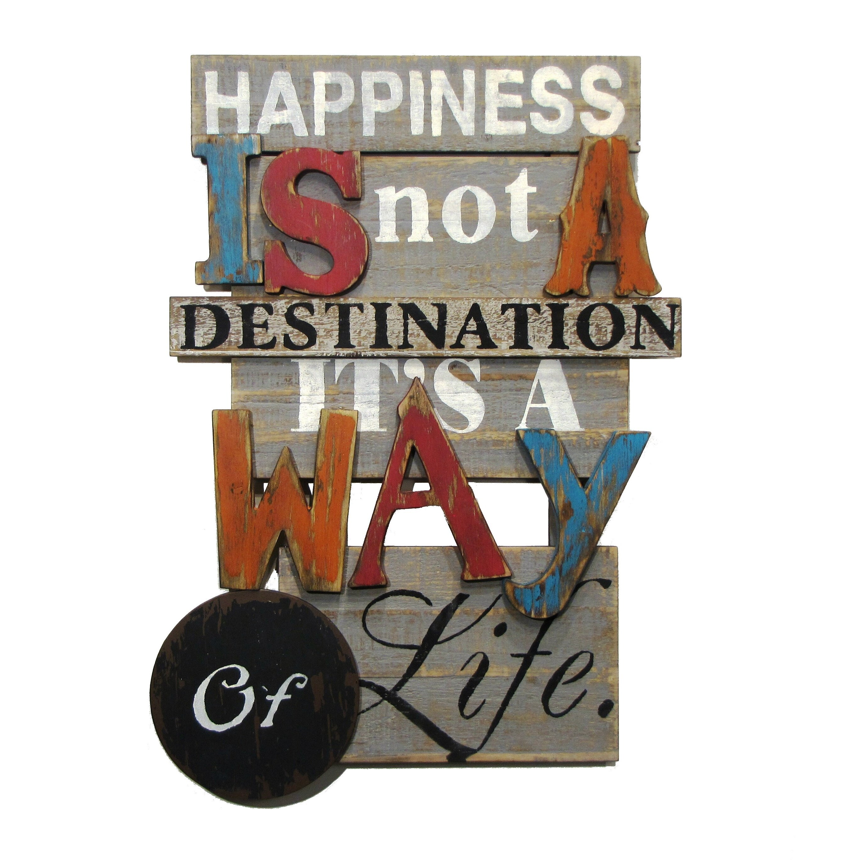 "Wilco Home Decor: Wilco Home ""Happiness Is Not A Destination...It's A Way Of"
