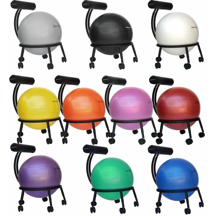 Isokinetics adjustable high back exercise ball chair - Replacing office chair with exercise ball ...