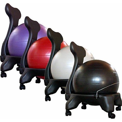 Isokinetics High Back Exercise Ball Chair & Reviews