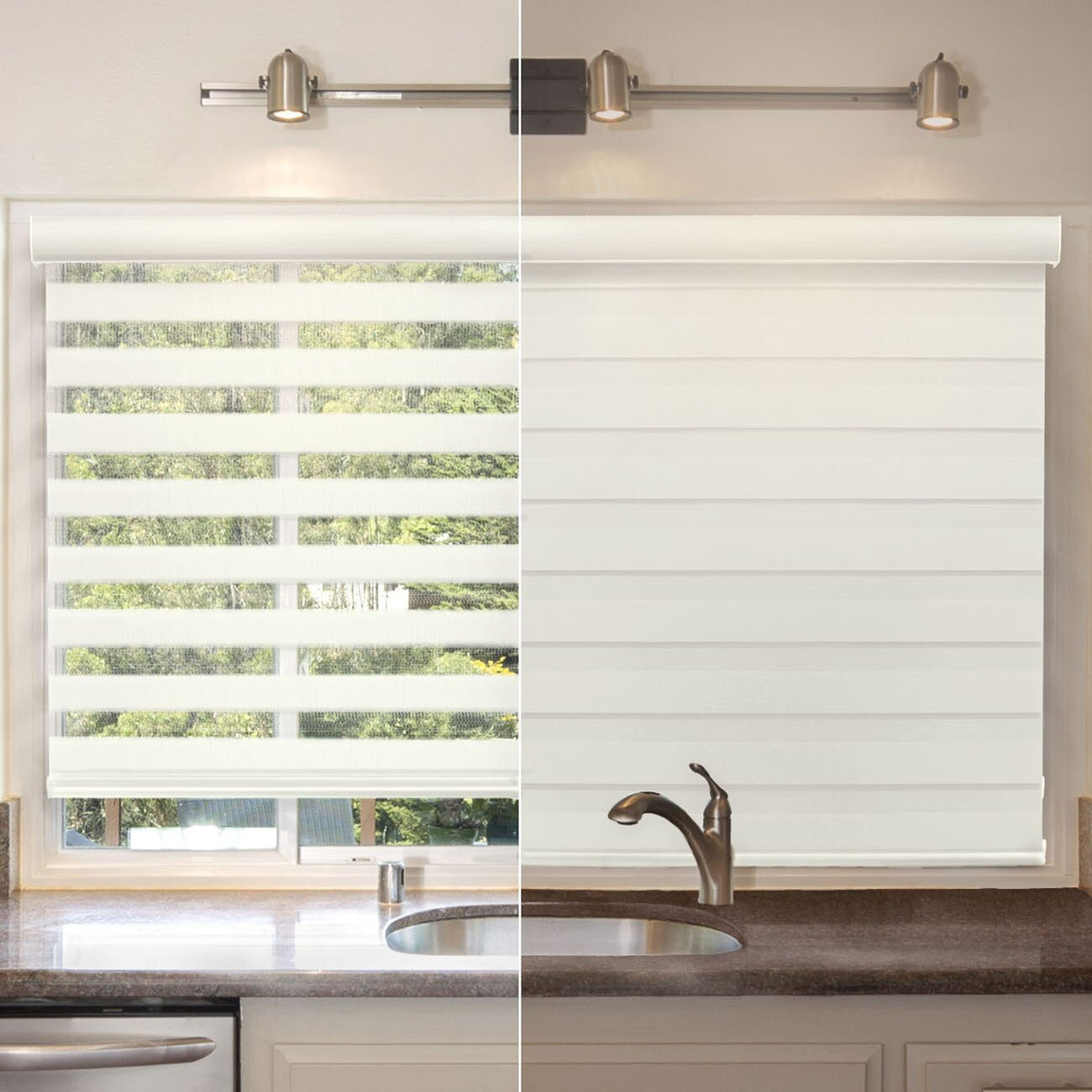 Chicology cordless zebra roller shade reviews wayfair for 20 inch window blinds