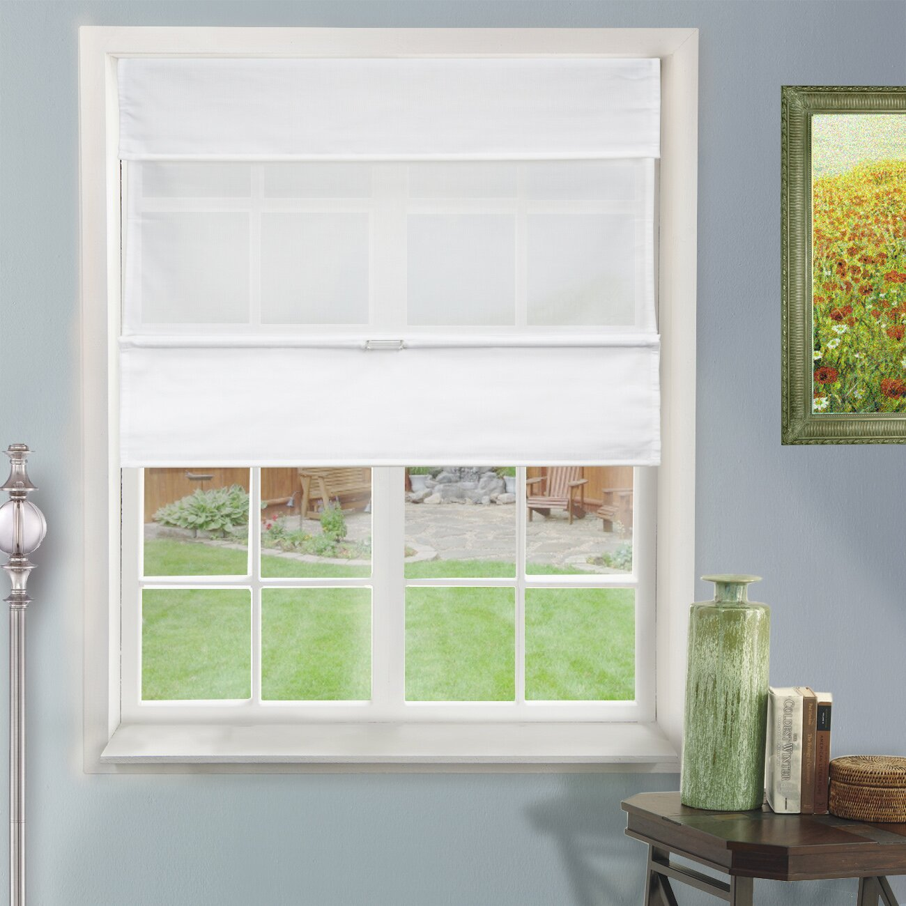 Chicology Cordless Magnetic Roman Shades Reviews Wayfair