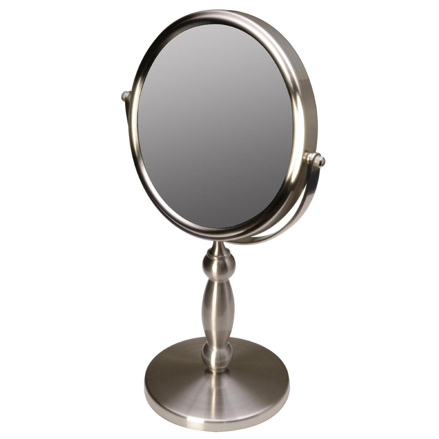 Floxite Vanity 15x 1x Magnification Swivel Mirror