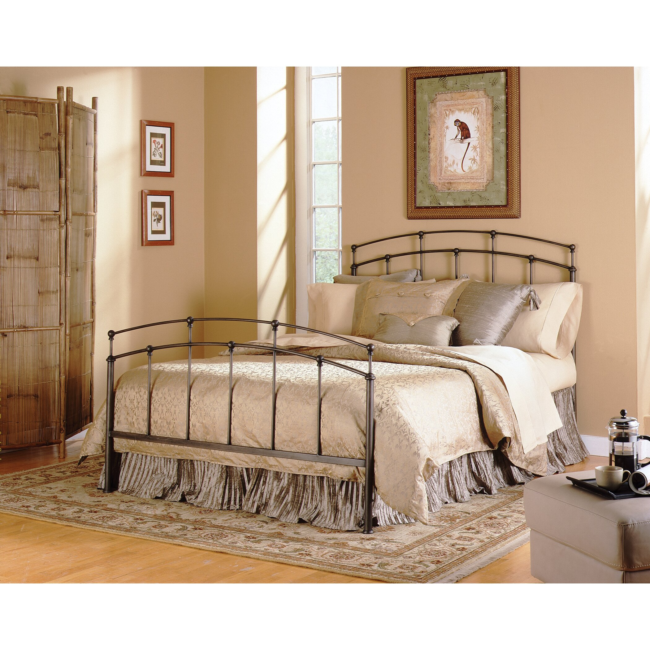 Fashion bed group fenton metal headboard reviews wayfair for Bedroom ideas with metal beds