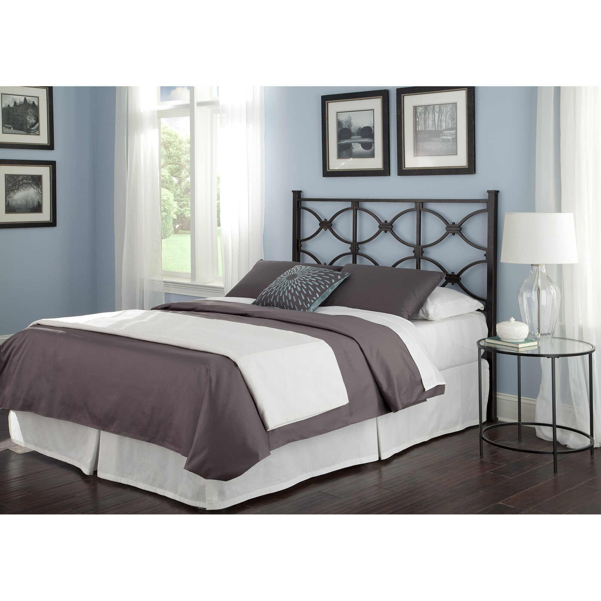 Fashion bed group marlo california king steel headboard California king headboard