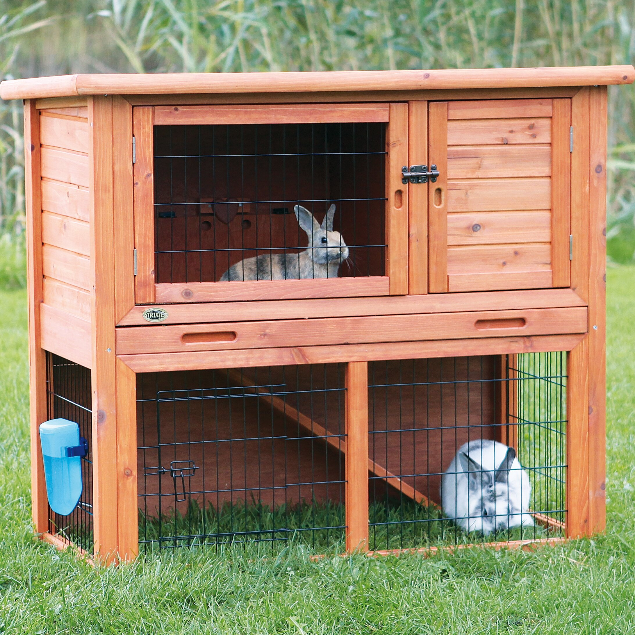 Trixie animal hutch with sloped roof reviews wayfair for Cage lapin exterieur