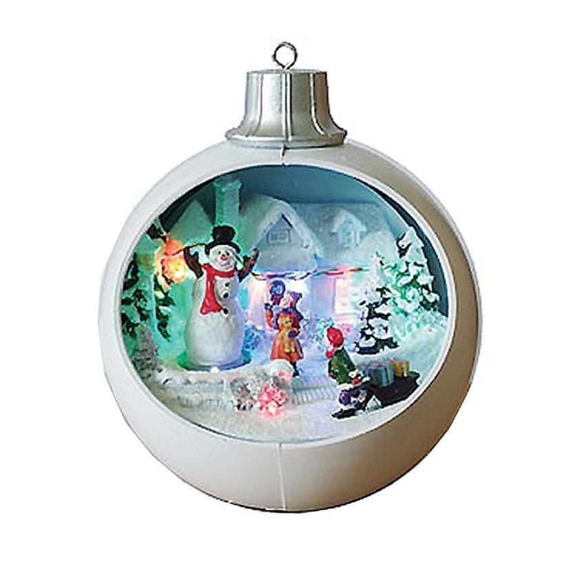 Santa's Workshop Christmas Bulb Scene Led Ornament