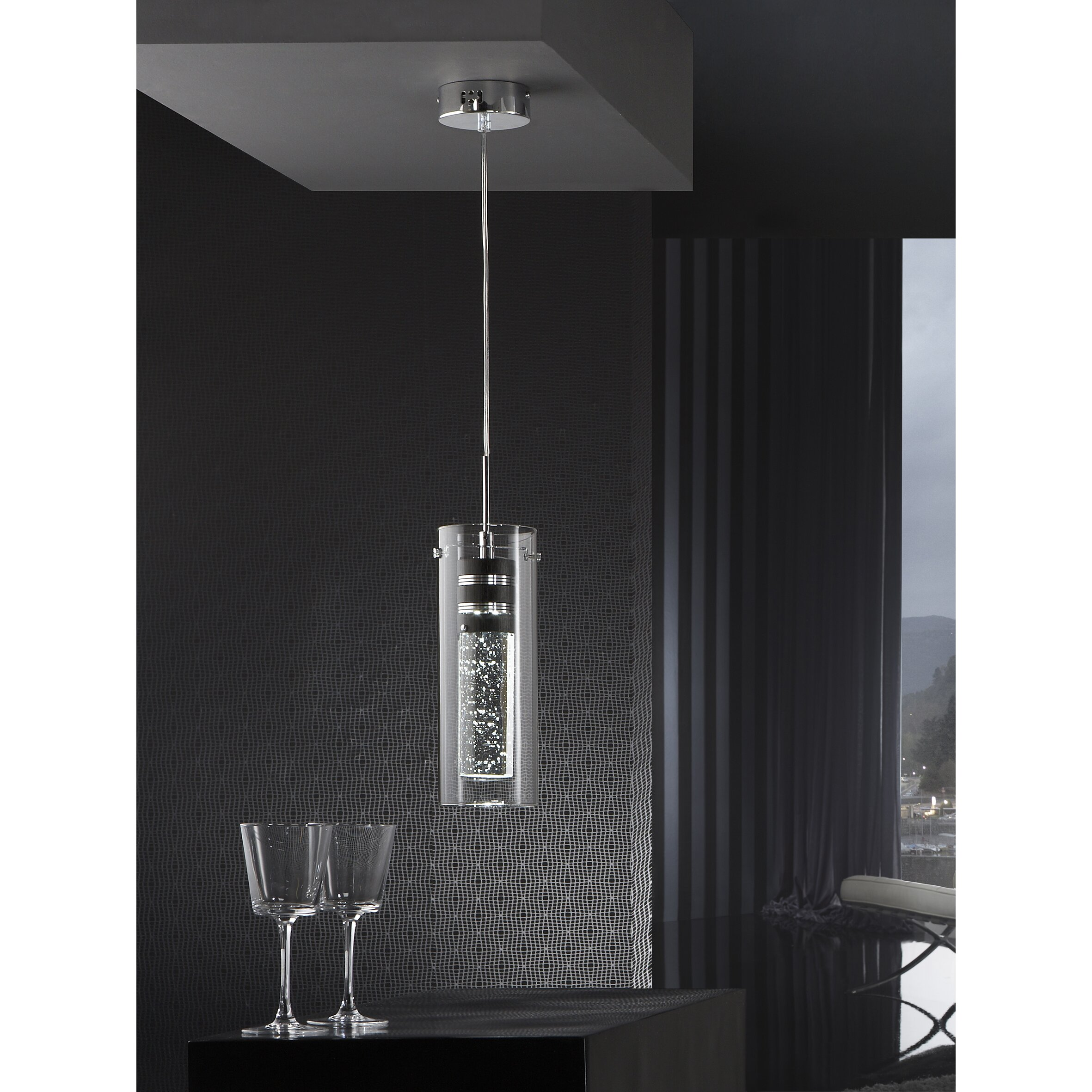 Schuller Bubble 1 LED Light Kitchen Island Pendant