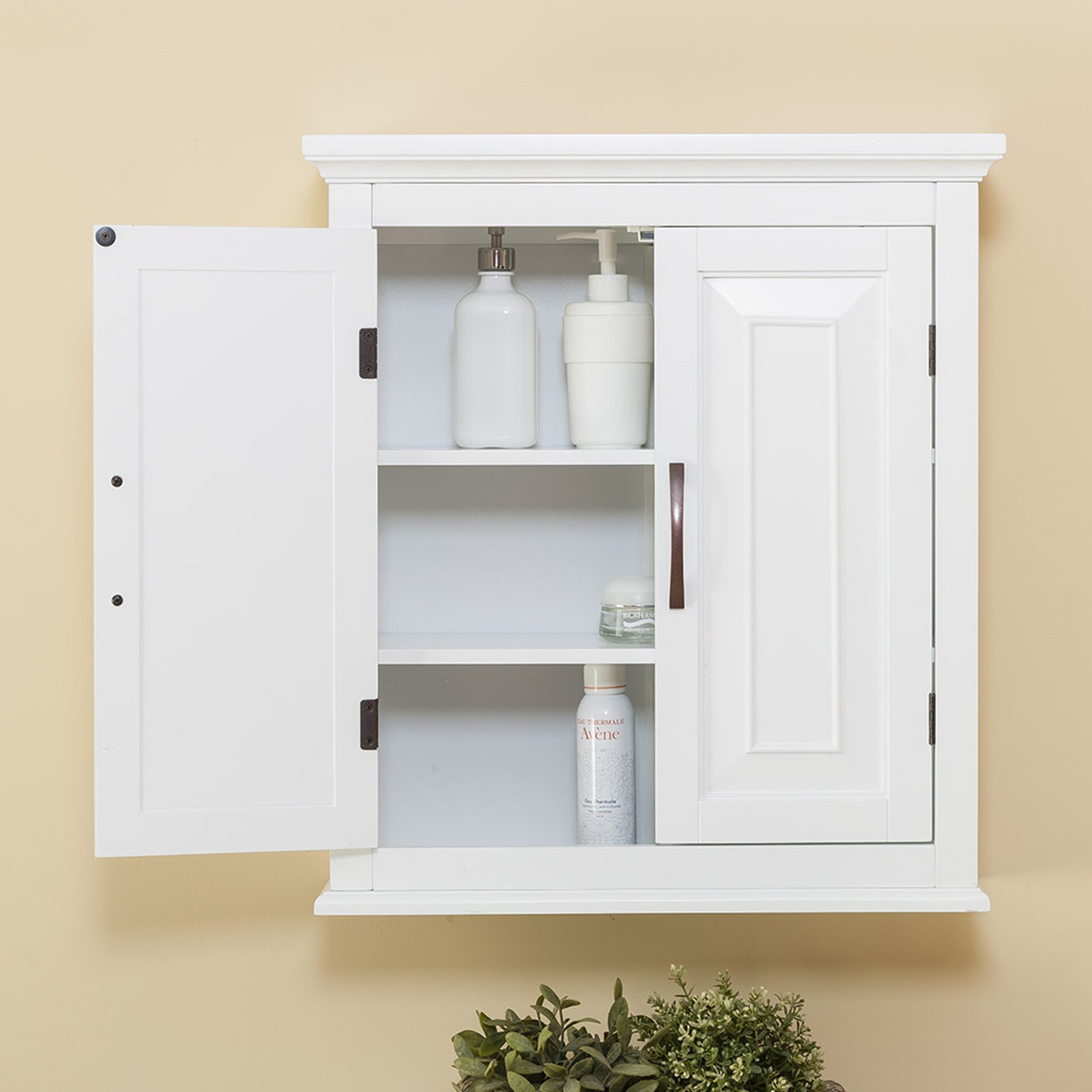 "Wall Mounted Kitchen Cabinets: Alcott Hill Prater 22.5"" X 25"" Wall Mounted Cabinet"