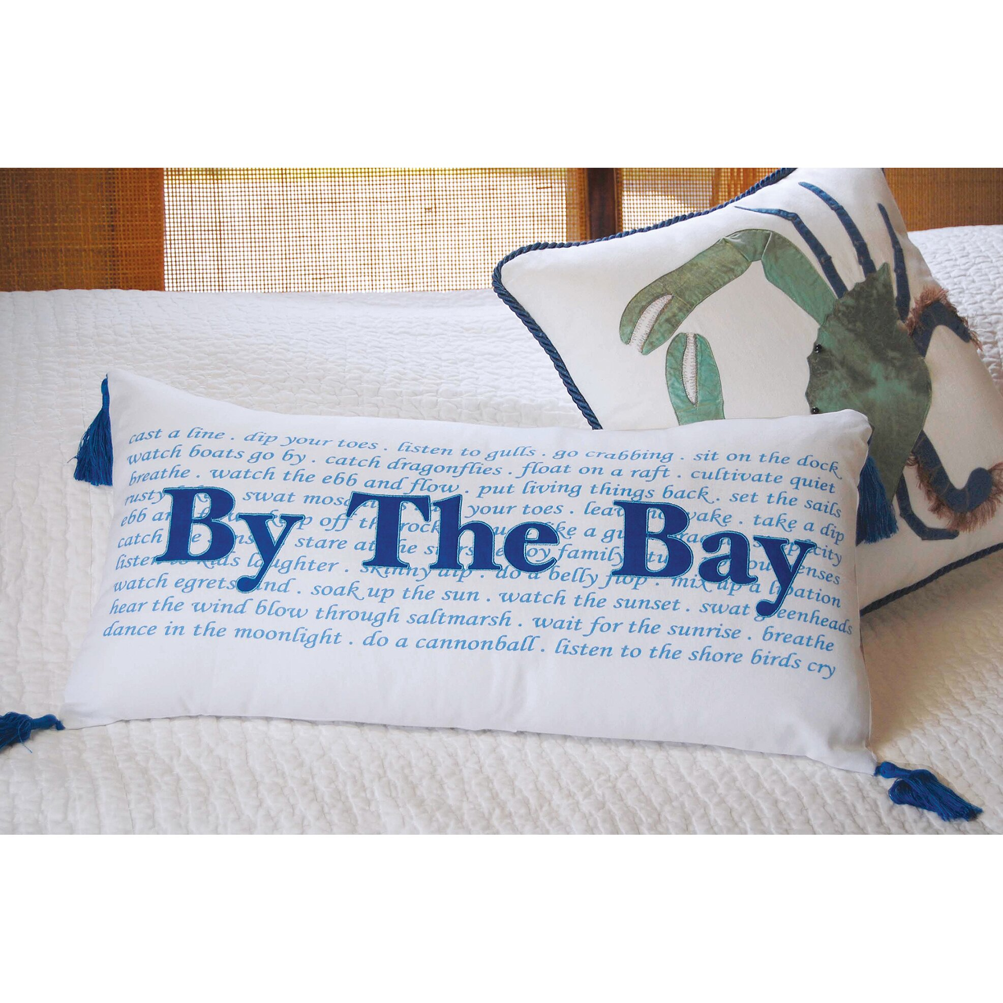 Throw Pillows The Bay : Rightside Design I Sea Life By the Bay Cotton Throw Pillow & Reviews Wayfair