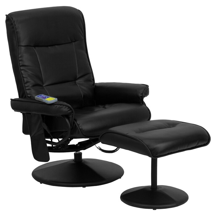 Flash Furniture Heated Reclining Massage Chair Ottoman Reviews