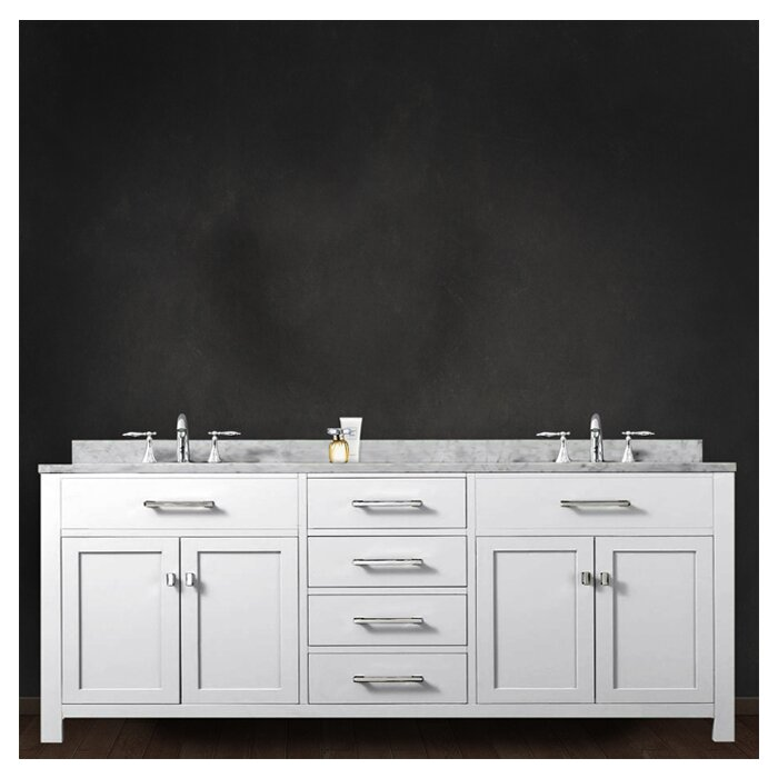Dcor Design Creighton 72 Double Bathroom Vanity Set Reviews Wayfair