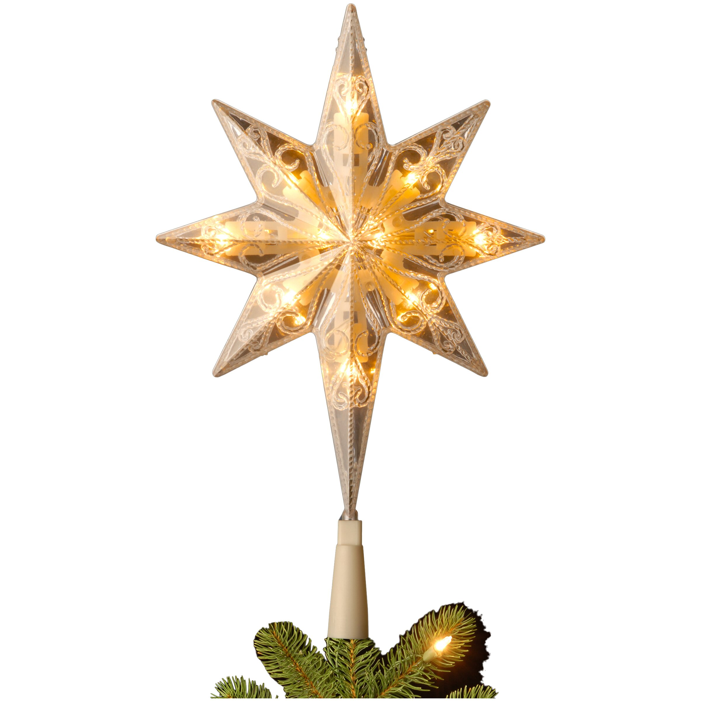 Star For A Christmas Tree: National Tree Co. Bethlehem Star Tree Topper With End