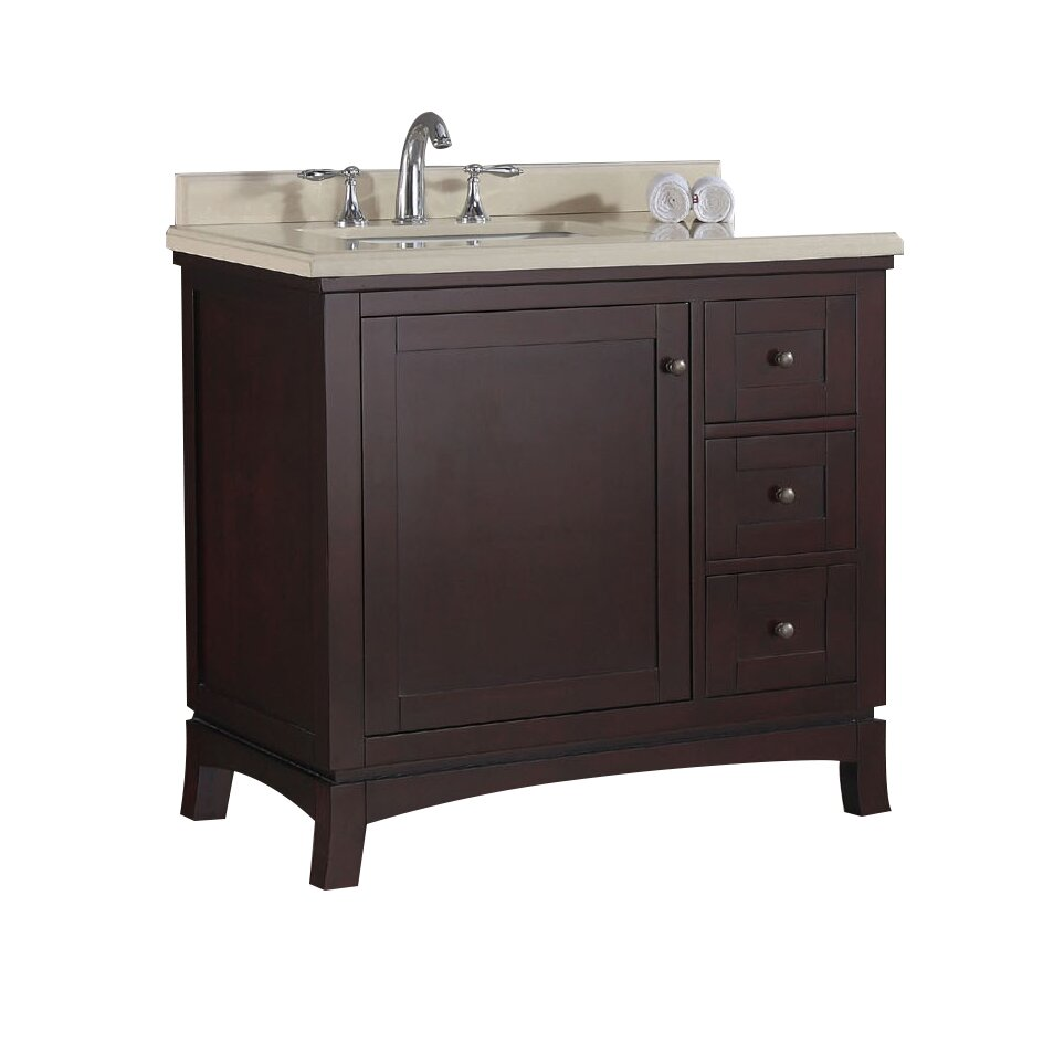 Ove decors valega 36 single bathroom vanity set reviews for Bath and vanity set