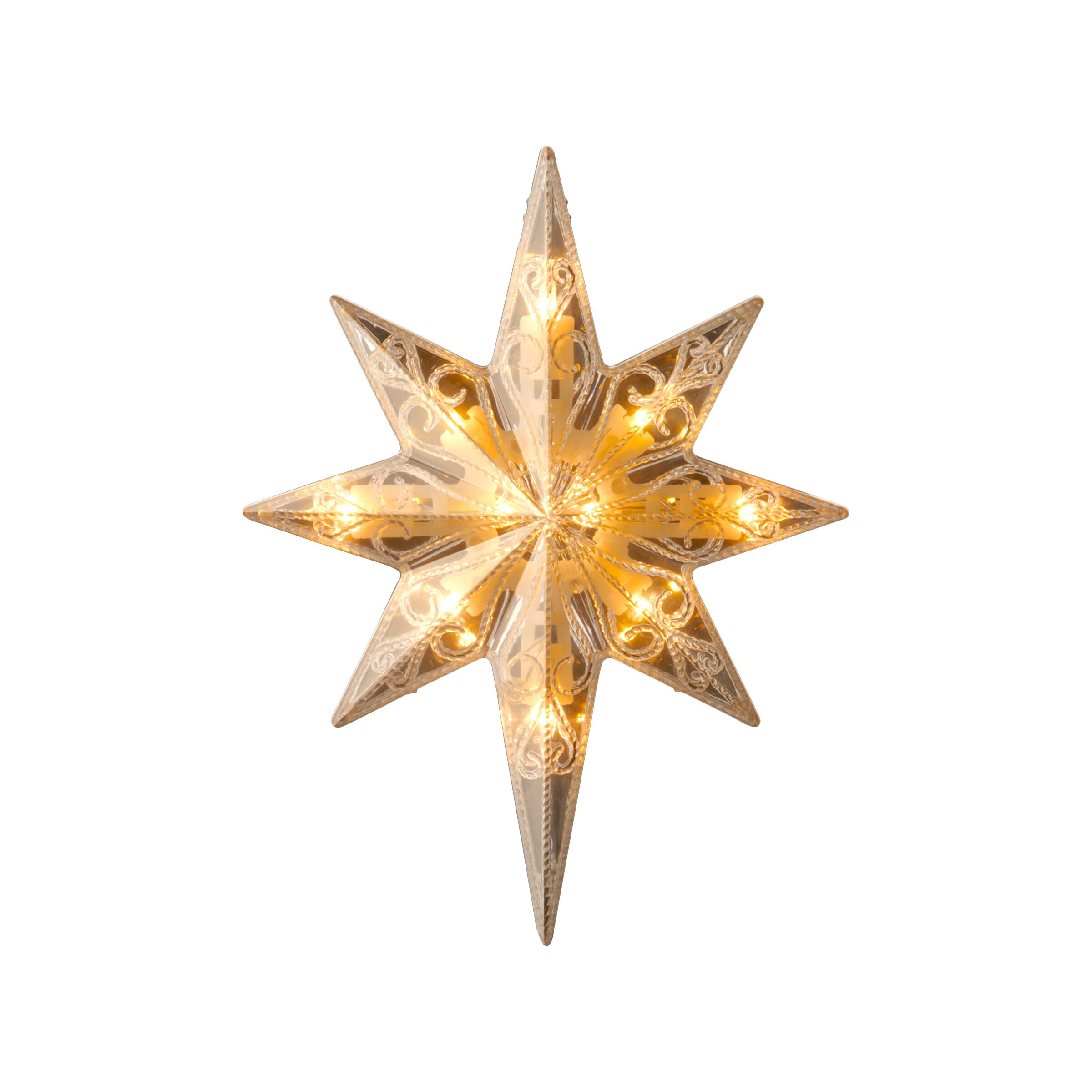 National Tree Co Bethlehem Star Tree Topper With End