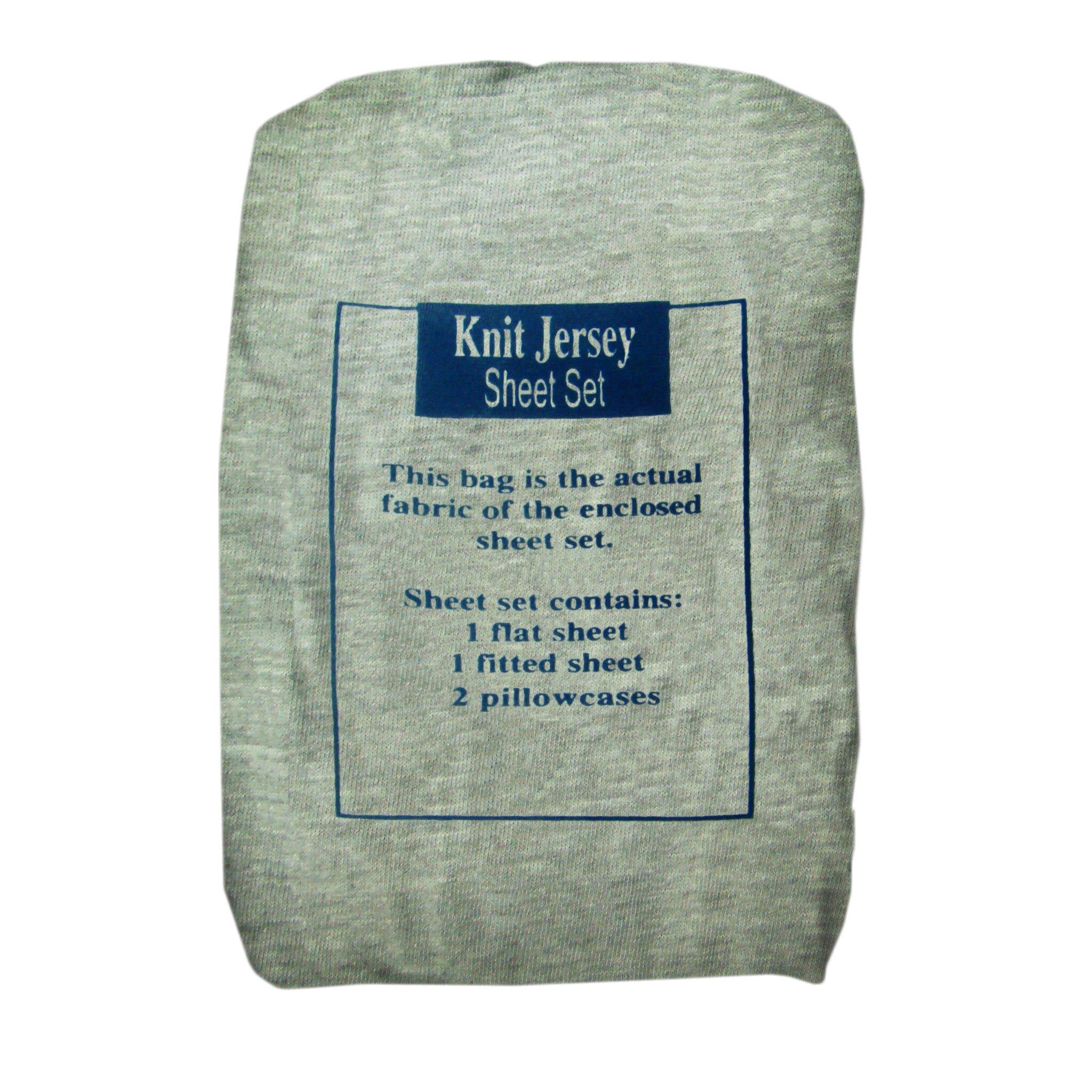 Textiles Plus Inc. Solid Jersey Knit Sheet Set & Reviews ...