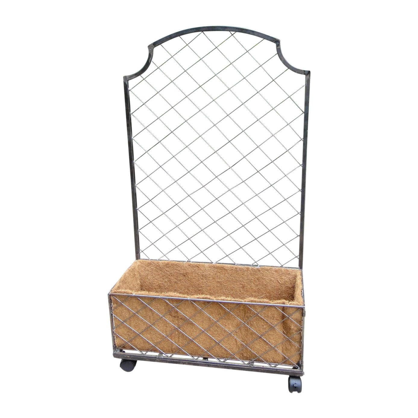 Griffith creek designs trellis privacy screen with planter for Outdoor planter screen