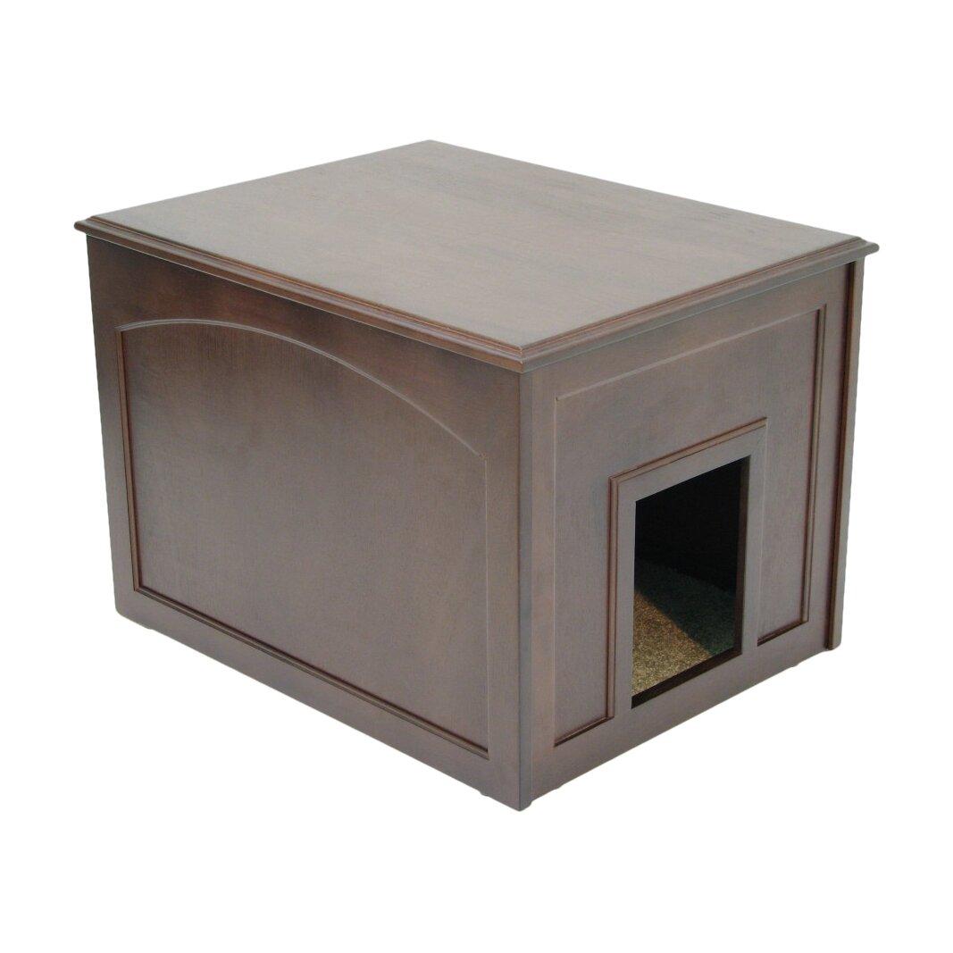 crown pet products cat condo amp litter box enclosure cat litter box cabinet