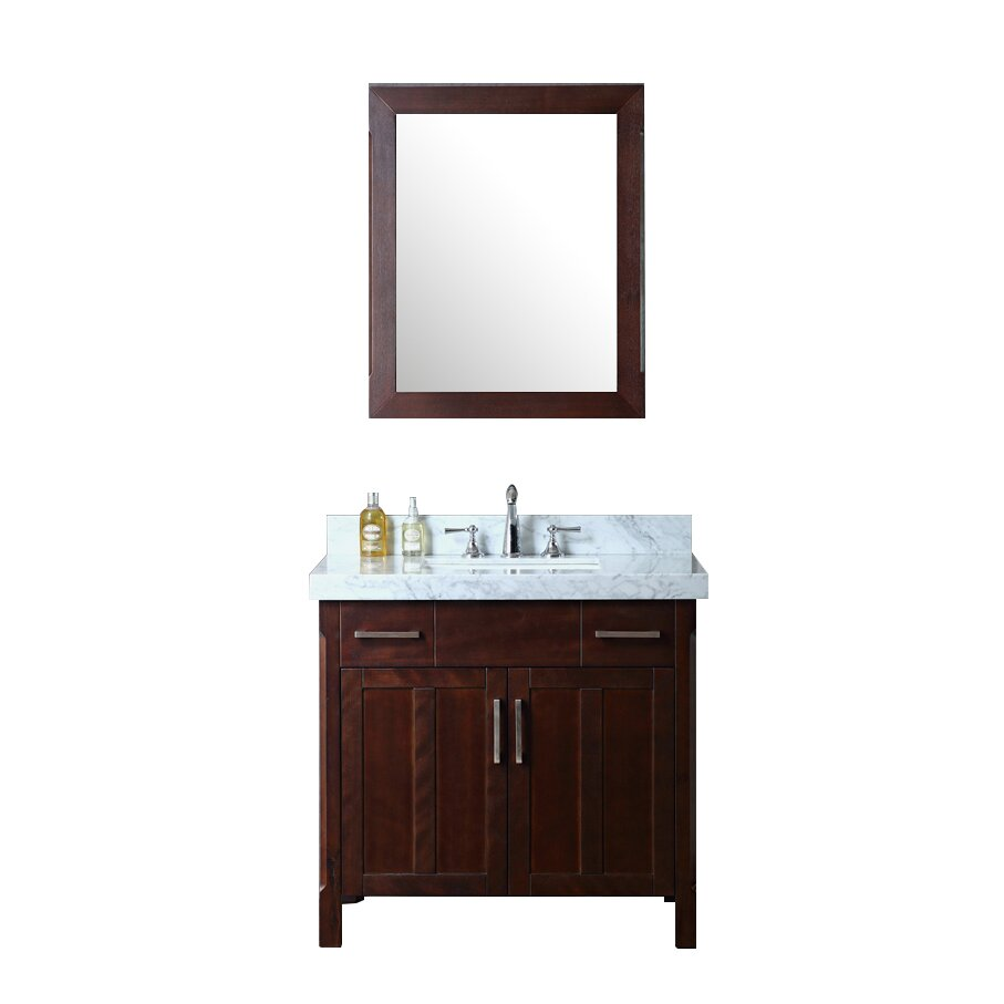 Ariel bath redford 36 single bathroom vanity set with for Bath and vanity set