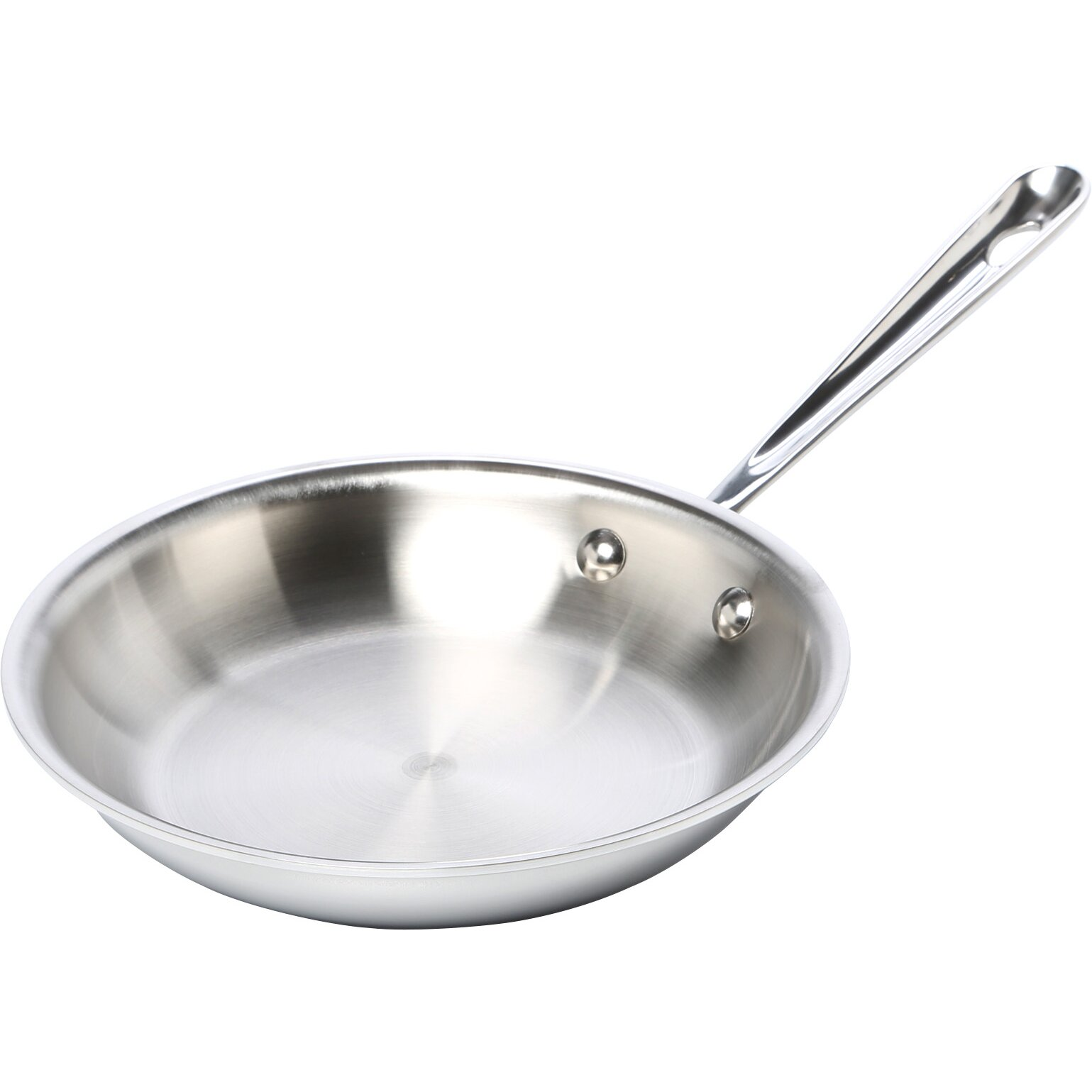 "16"" Aluminum-Clad Stainless Steel Fry Pan with Helper Handle 