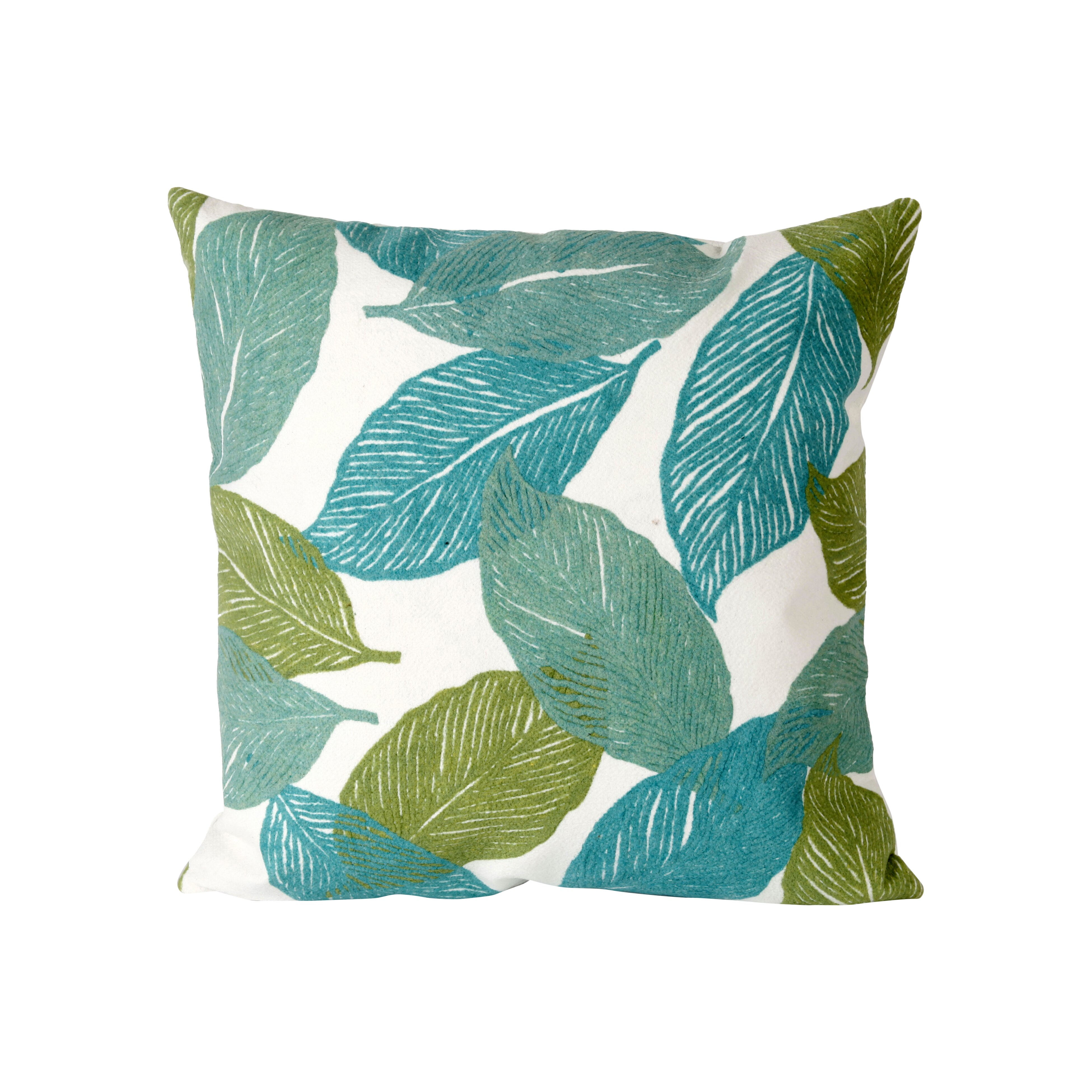 Throw Pillows In Abuja : Liora Manne Mystic Leaf Indoor/Outdoor Throw Pillow & Reviews Wayfair