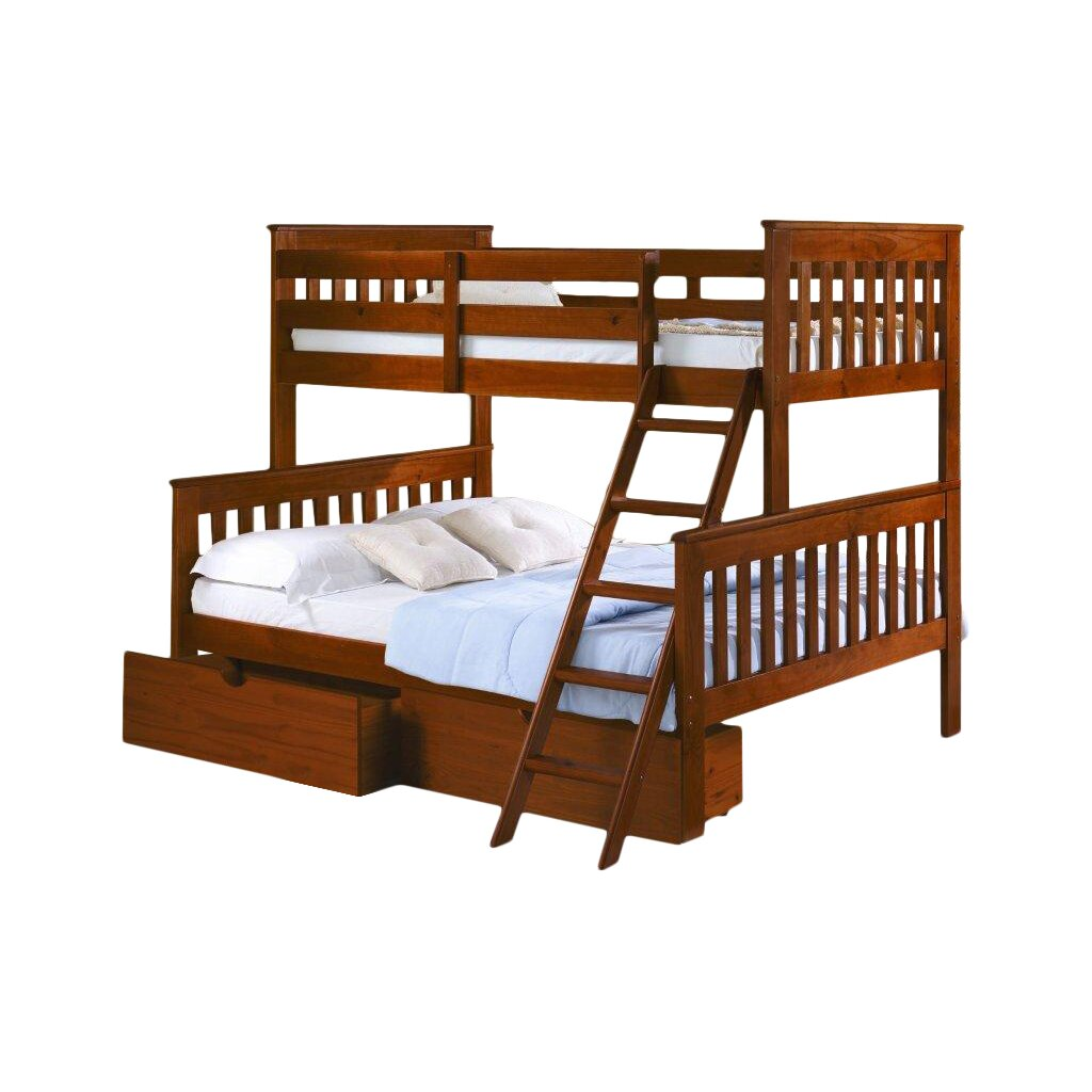 Donco Kids Twin over Full Standard Bunk Bed with Storage ...
