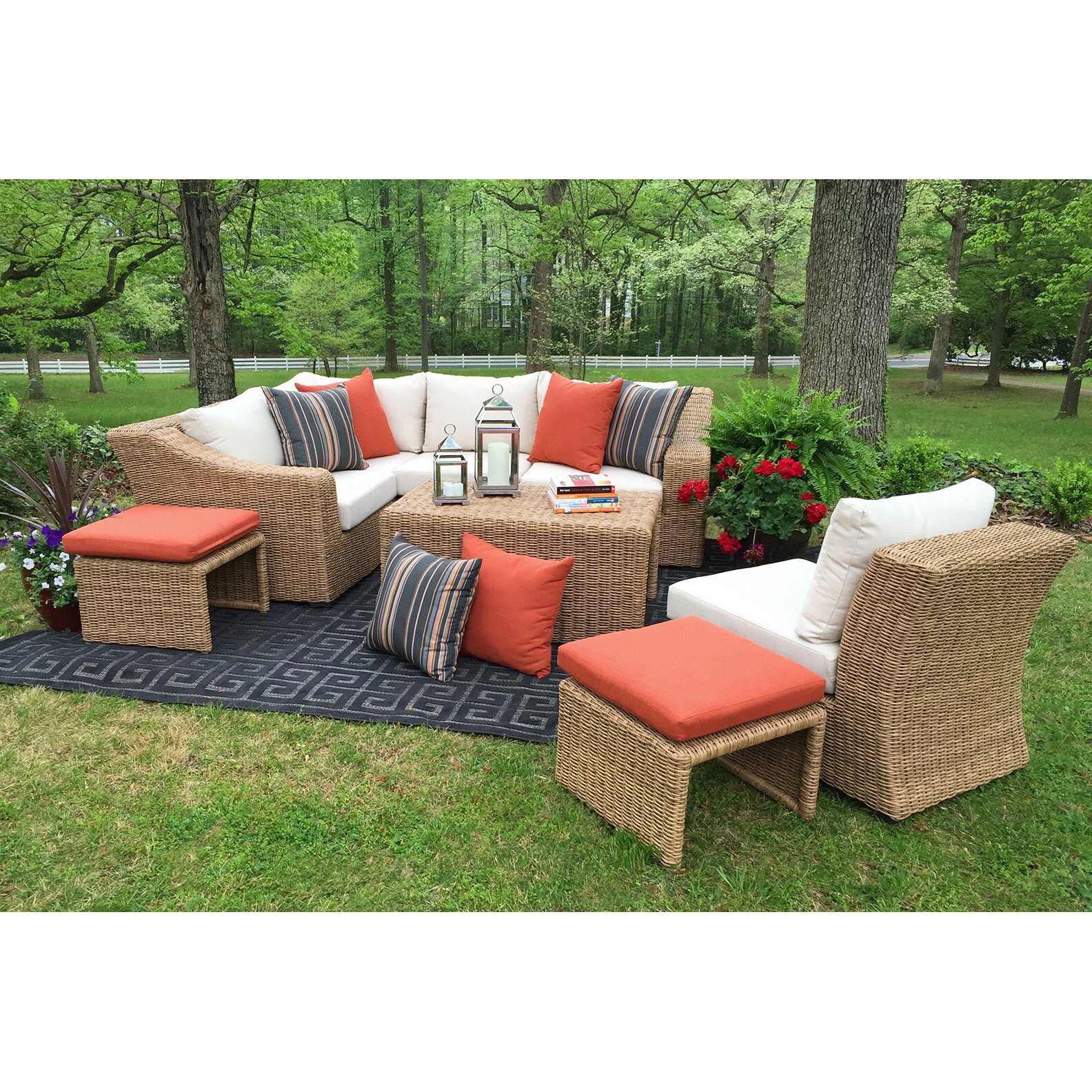 Ae Outdoor Arizona 4 Piece Seating Group With Cushions Reviews Wayfair