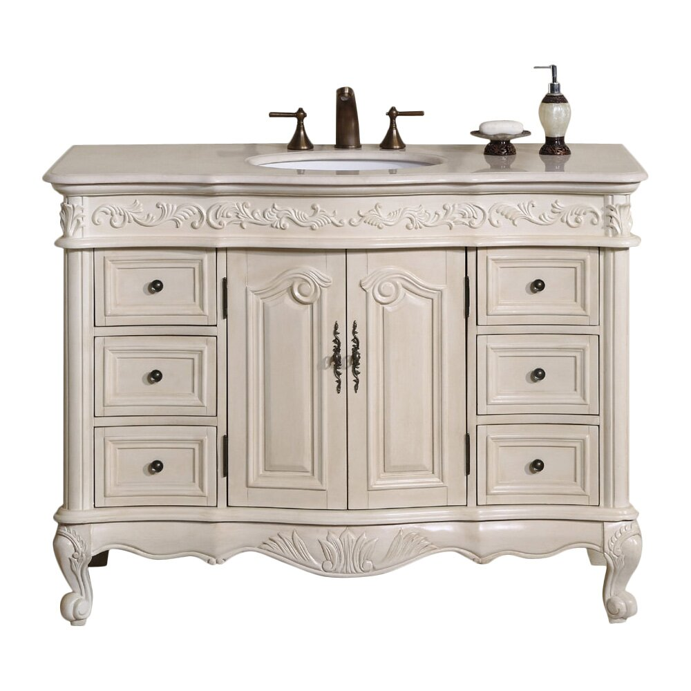 Silkroad Exclusive Ella 48 Single Bathroom Vanity Set