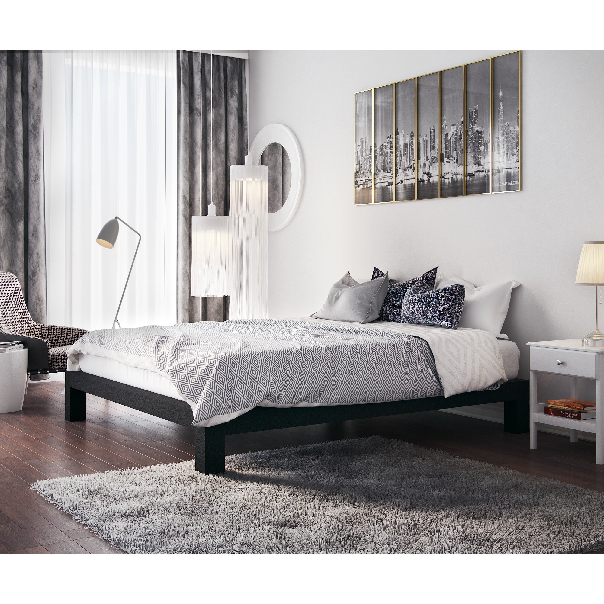 In Style Furnishings Stella Platform Bed & Reviews