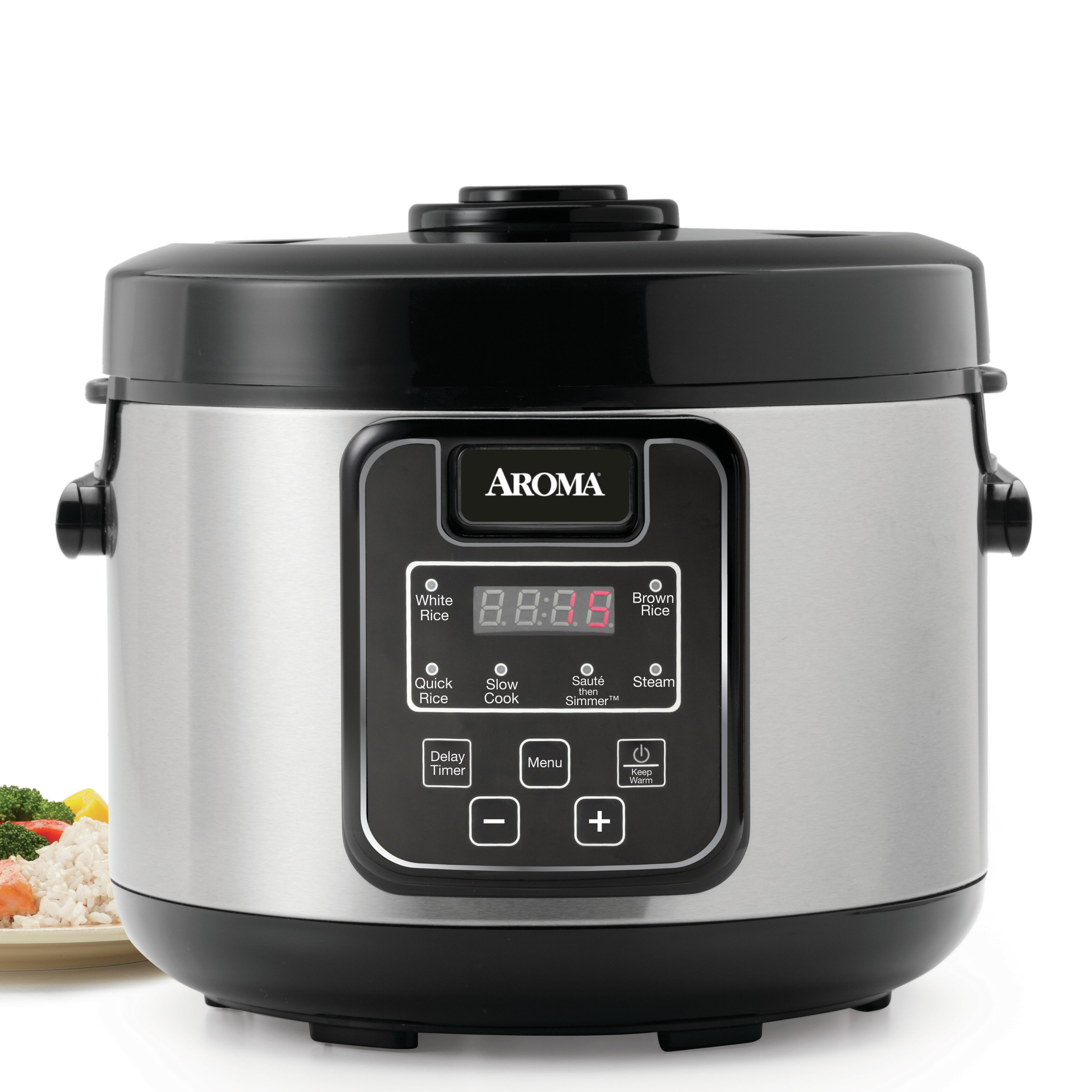 Aroma Rice Cooker ~ Aroma cup slow cooker food steamer and rice